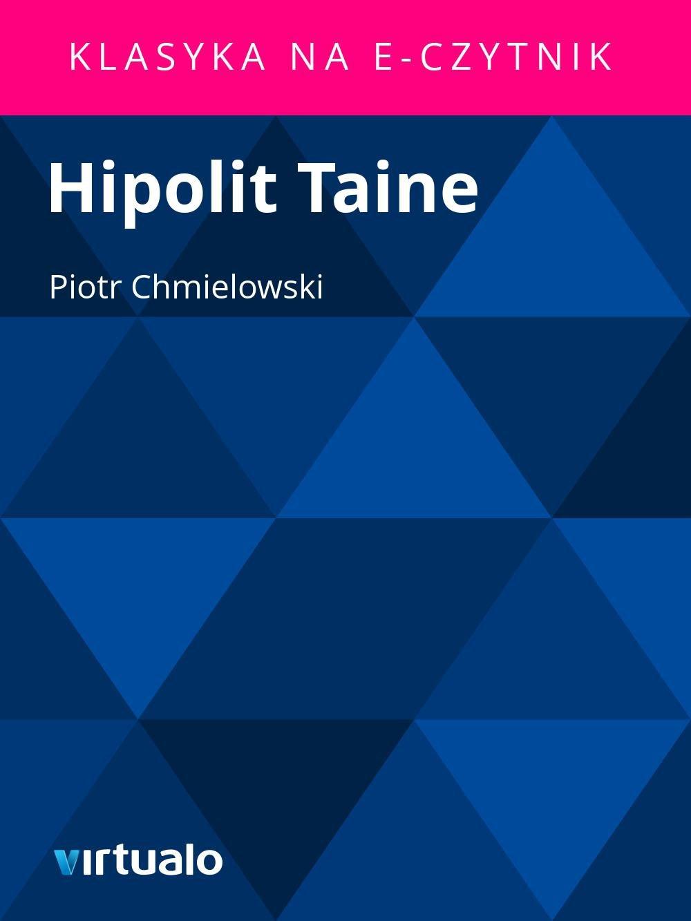 Hipolit Taine - Ebook (Książka EPUB) do pobrania w formacie EPUB