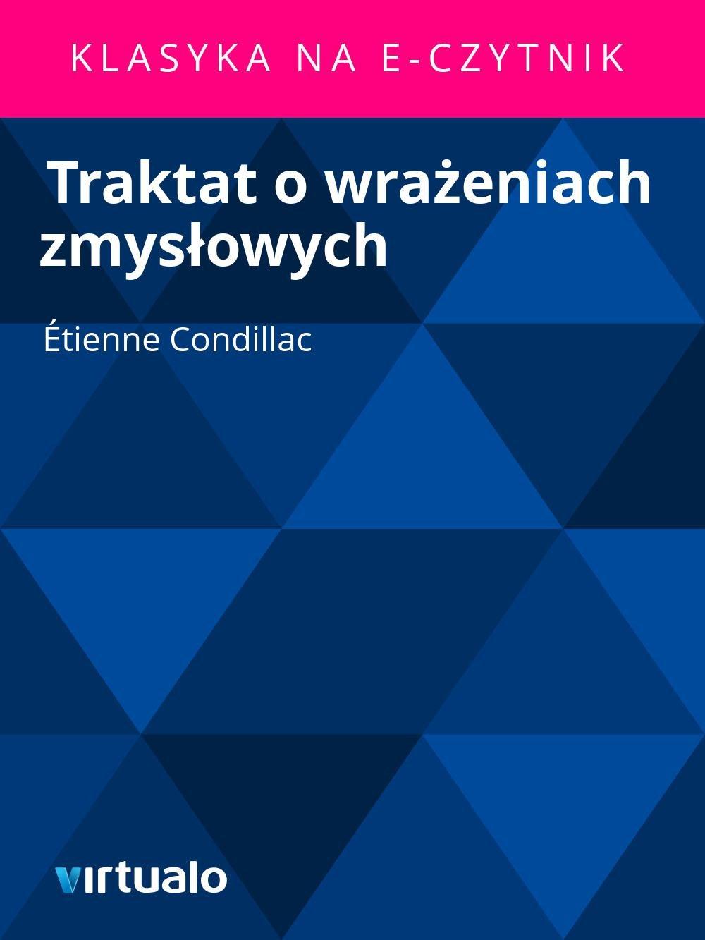 Traktat o wrażeniach zmysłowych - Ebook (Książka EPUB) do pobrania w formacie EPUB