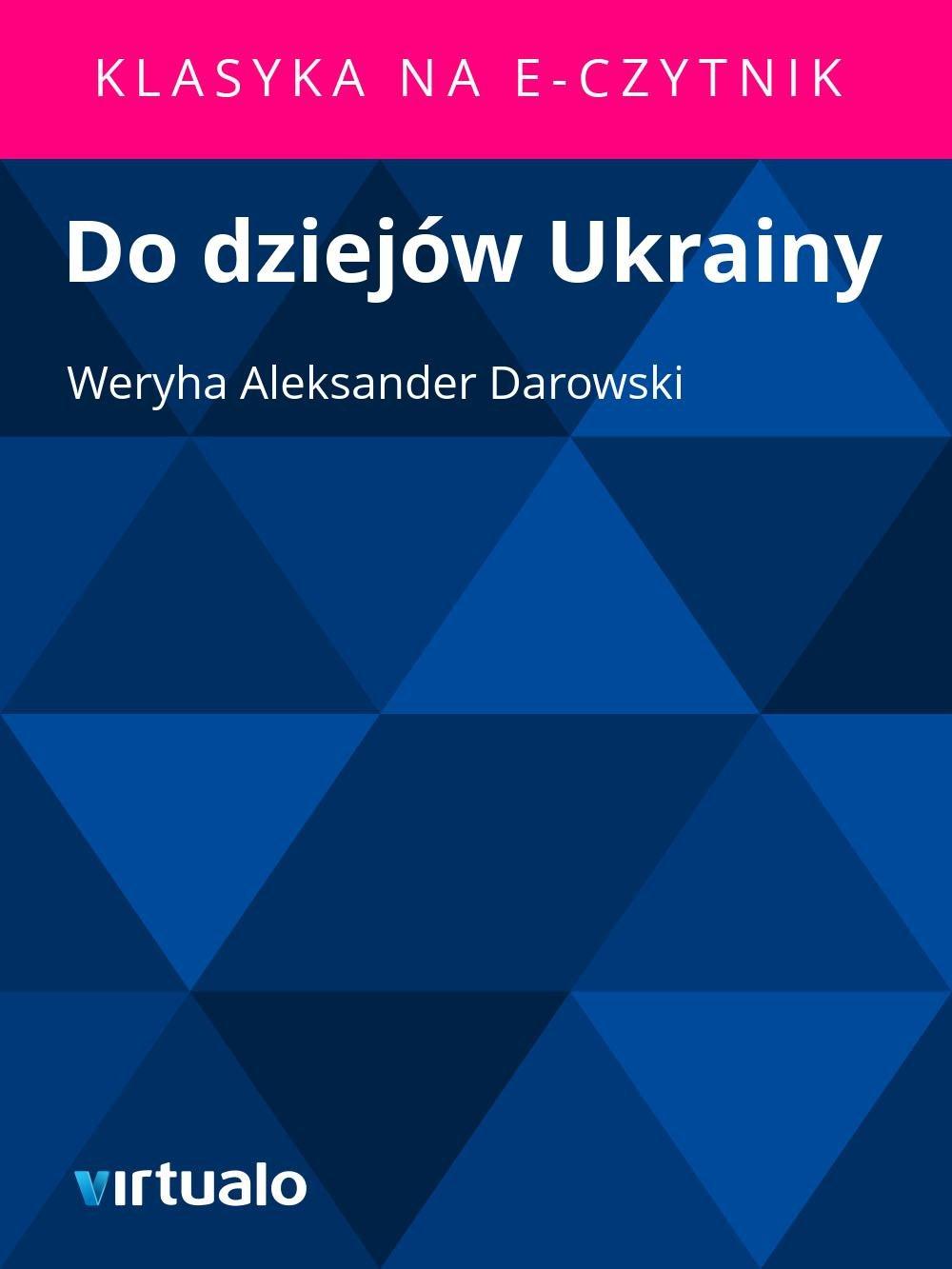 Do dziejów Ukrainy - Ebook (Książka EPUB) do pobrania w formacie EPUB