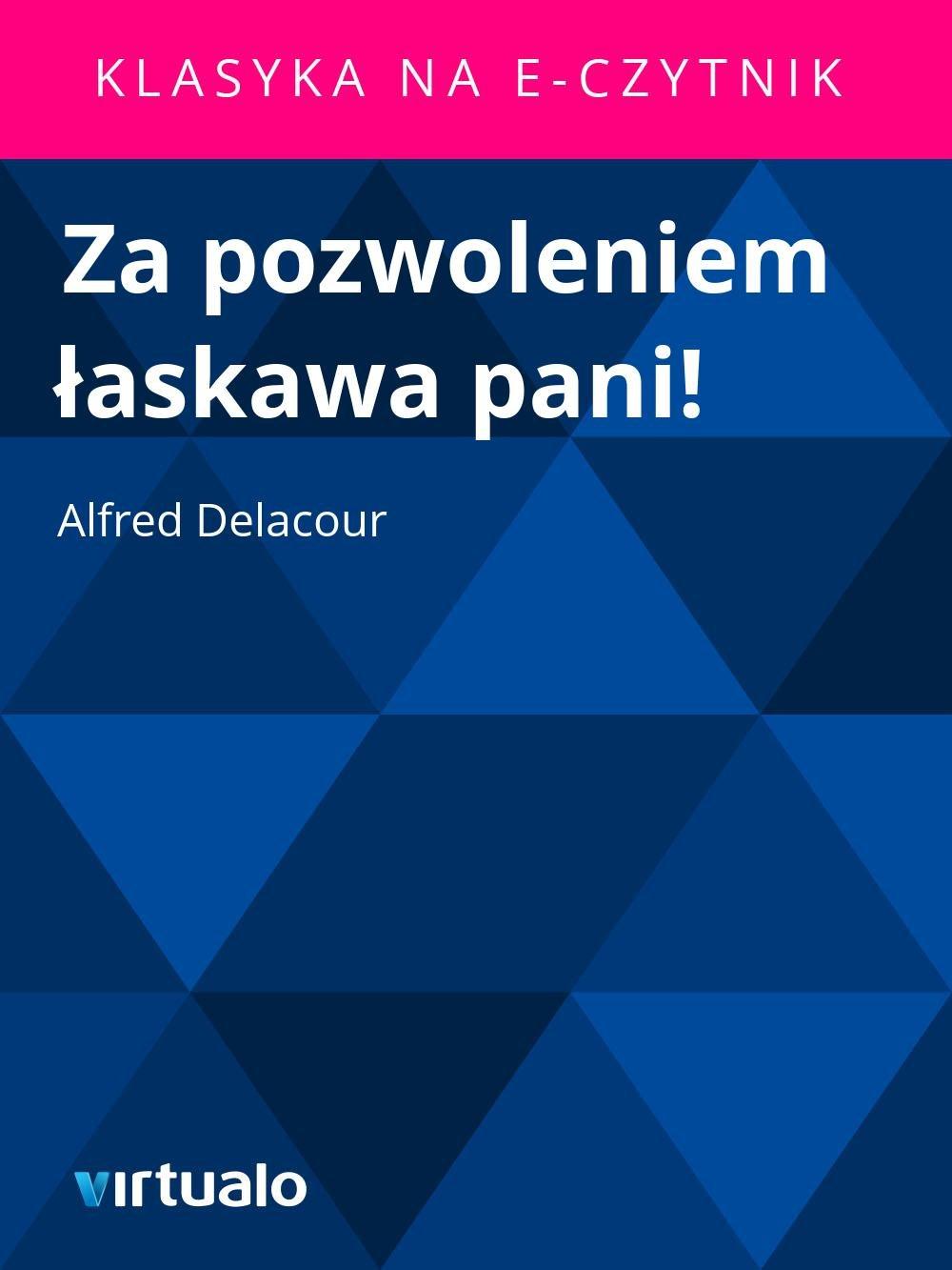 Za pozwoleniem łaskawa pani! - Ebook (Książka EPUB) do pobrania w formacie EPUB