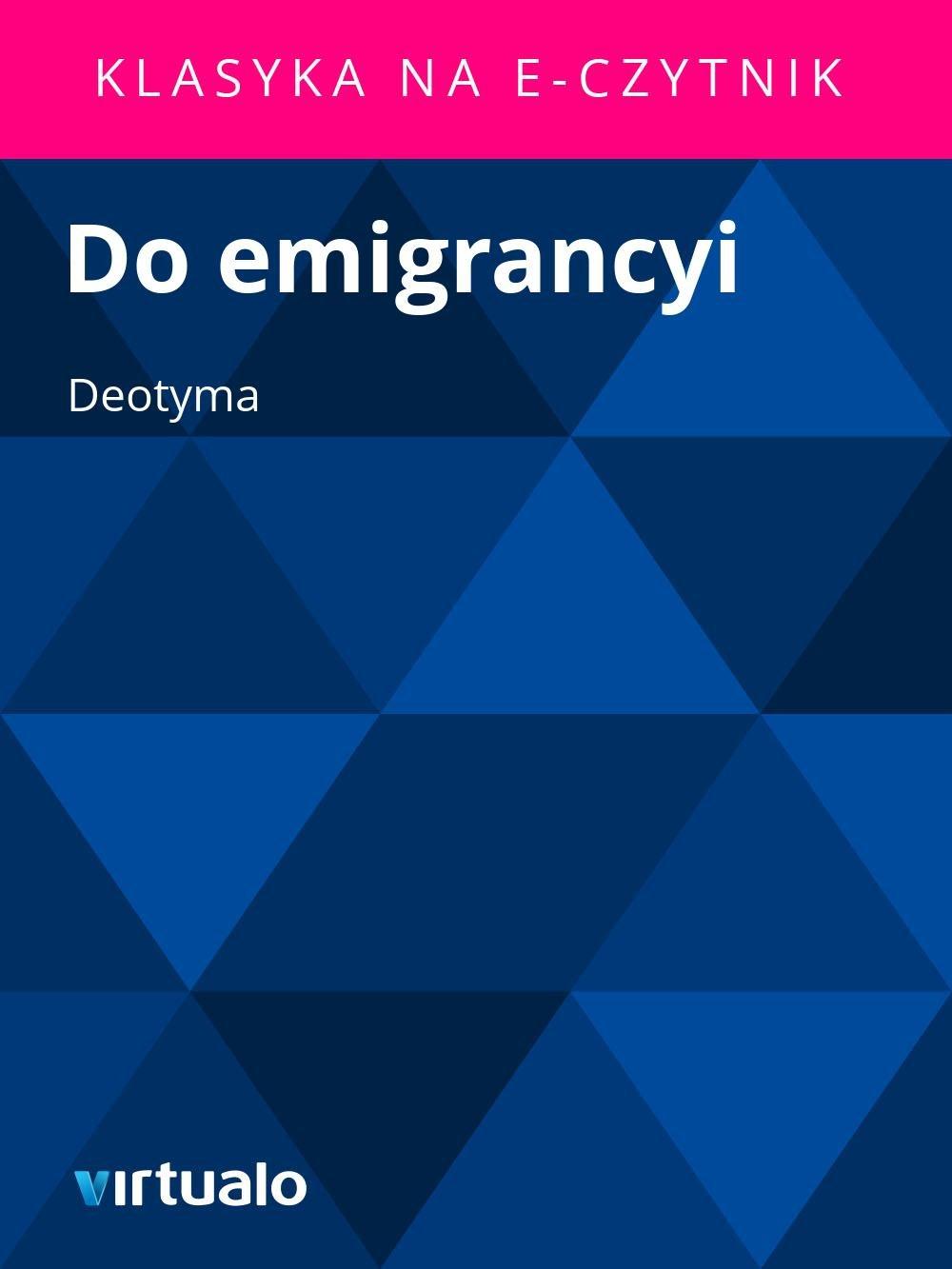 Do emigrancyi - Ebook (Książka EPUB) do pobrania w formacie EPUB