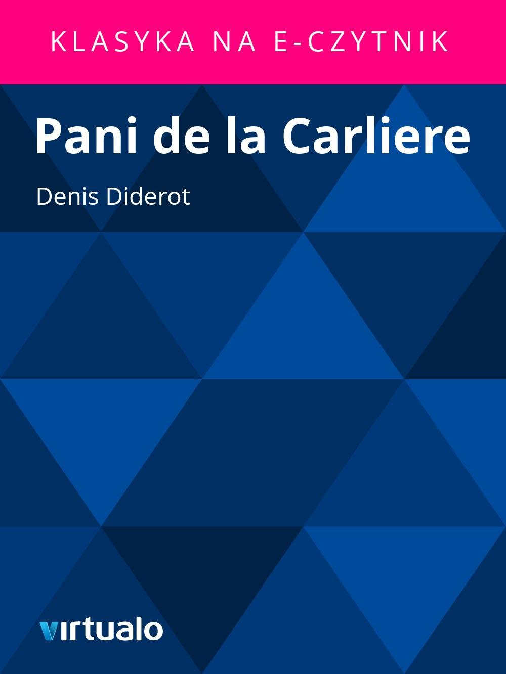 Pani de la Carliere - Ebook (Książka EPUB) do pobrania w formacie EPUB