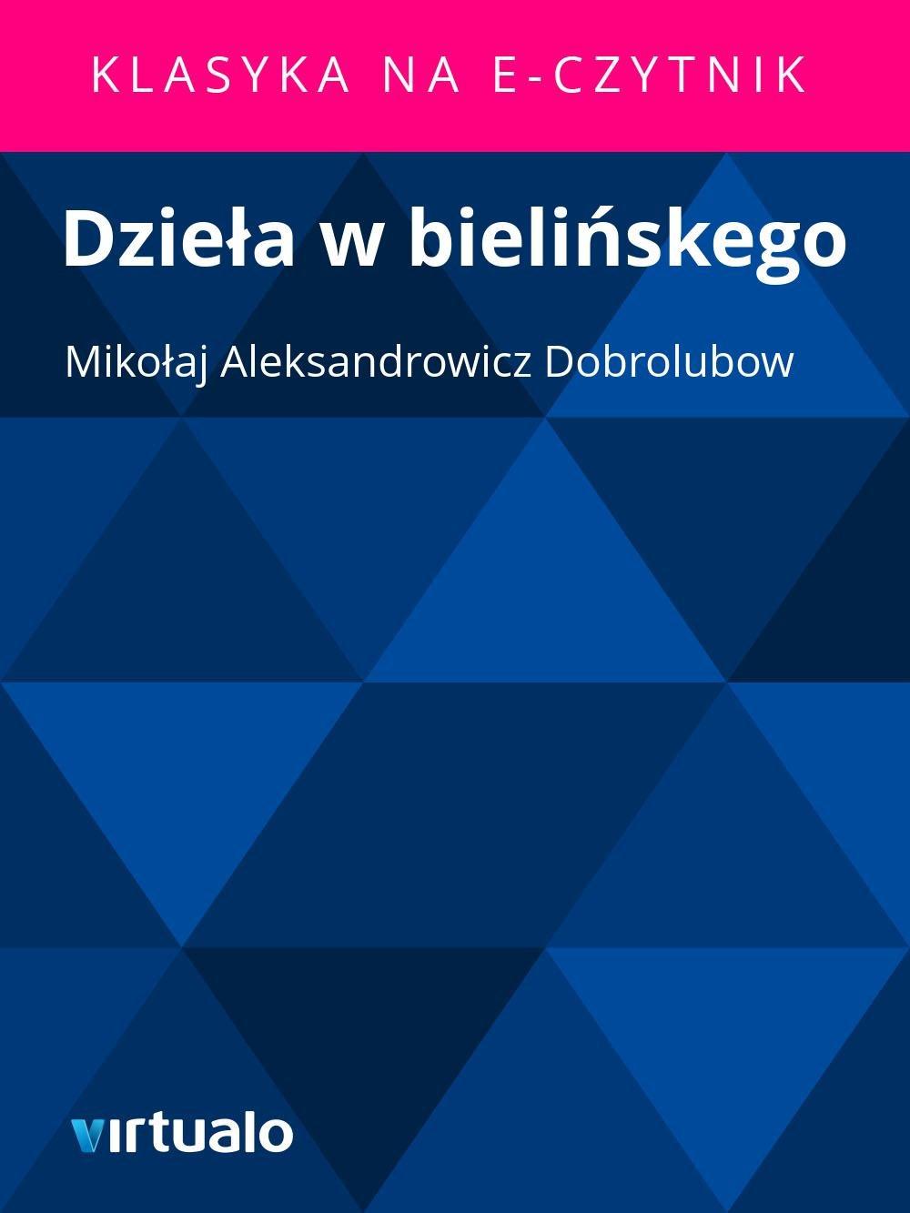 Dzieła w bielińskego - Ebook (Książka EPUB) do pobrania w formacie EPUB