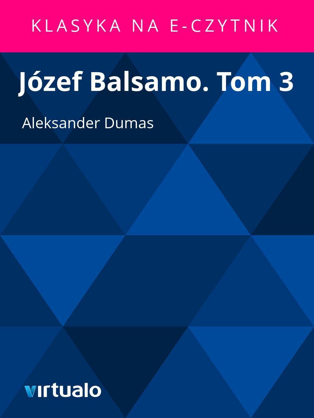 Józef Balsamo. Tom 3 - Ebook (Książka EPUB) do pobrania w formacie EPUB