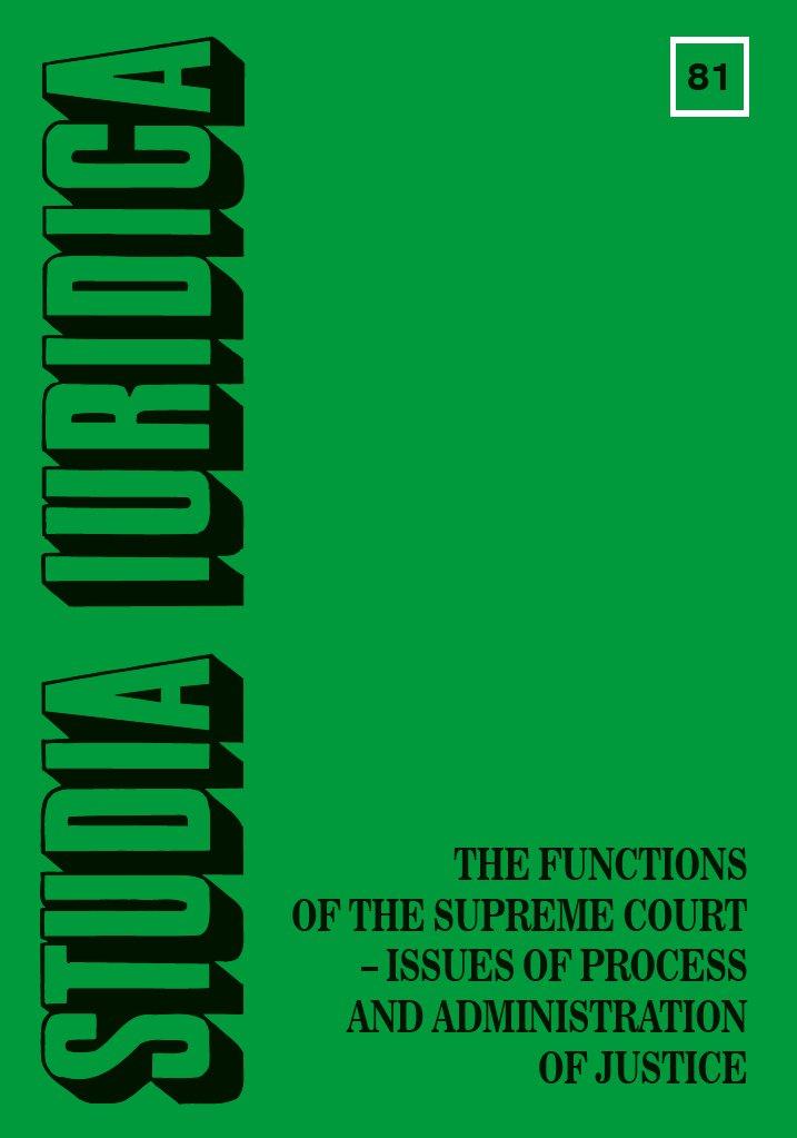 Studia Iuridica, nr 81 - Ebook (Książka PDF) do pobrania w formacie PDF
