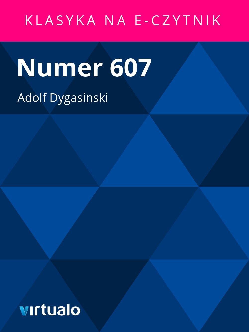 Numer 607 - Ebook (Książka EPUB) do pobrania w formacie EPUB