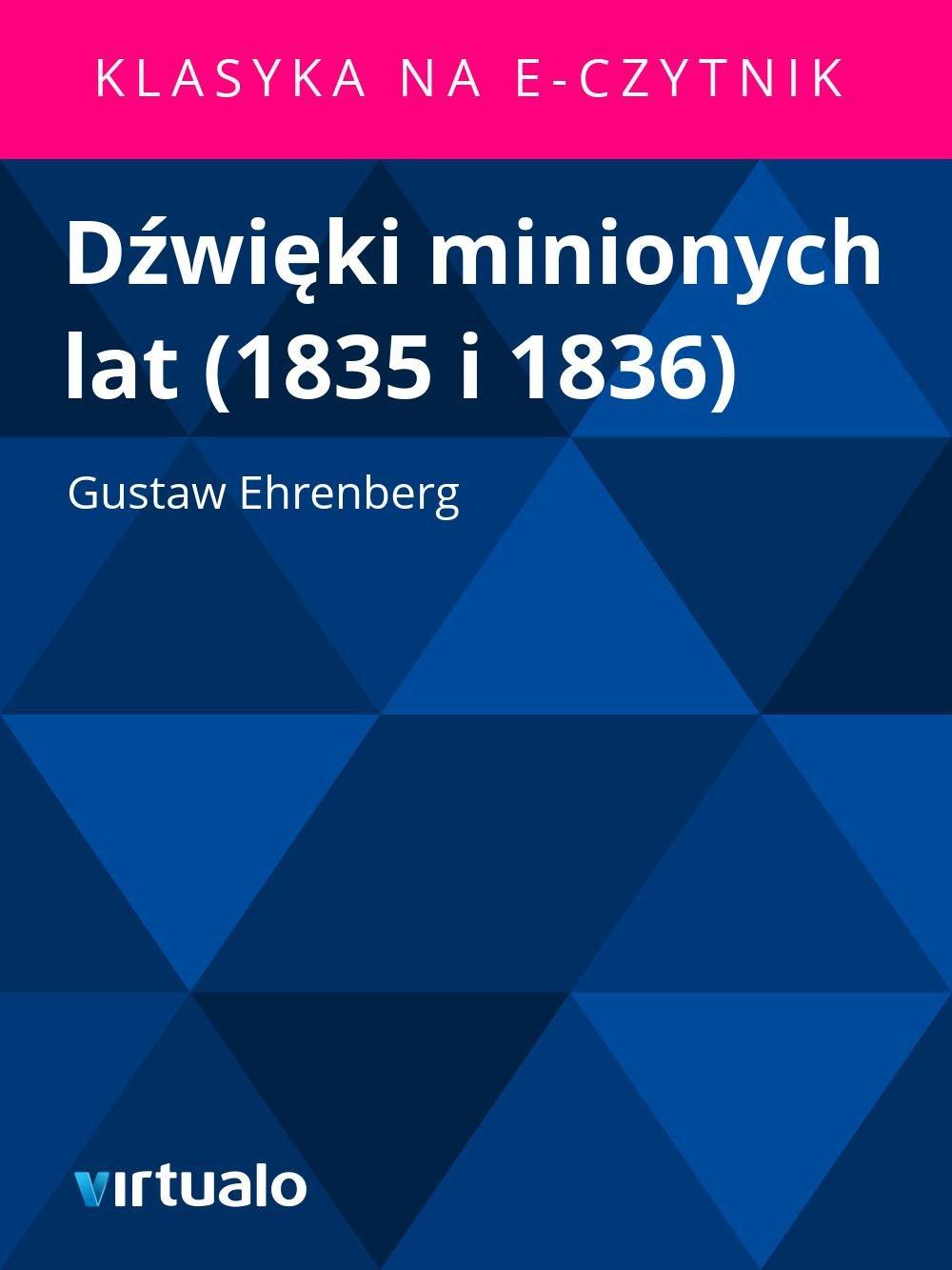 Dźwięki minionych lat (1835 i 1836) - Ebook (Książka EPUB) do pobrania w formacie EPUB