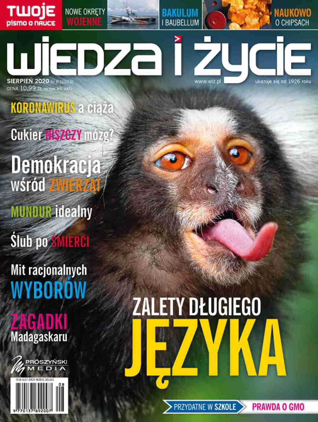 Wiedza i Życie nr 8/2020 - Ebook (Książka PDF) do pobrania w formacie PDF