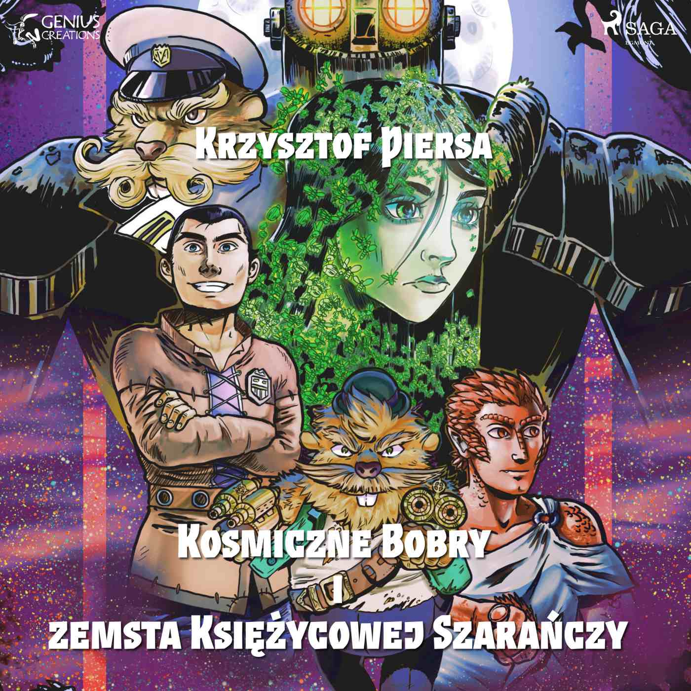 Kosmiczne Bobry i zemsta Księżycowej Szarańczy - Audiobook (Książka audio MP3) do pobrania w całości w archiwum ZIP