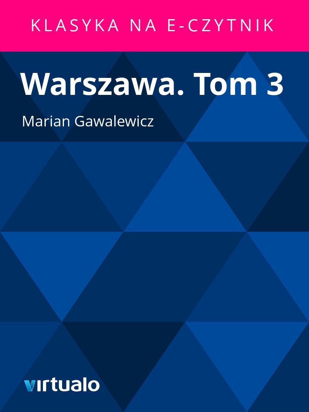 Warszawa. Tom 3 - Ebook (Książka EPUB) do pobrania w formacie EPUB