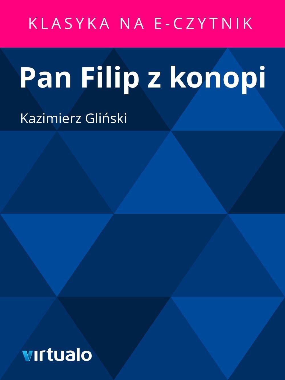 Pan Filip z konopi - Ebook (Książka EPUB) do pobrania w formacie EPUB