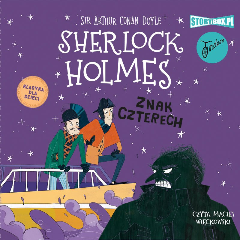Klasyka dla dzieci. Sherlock Holmes. Tom 2. Znak czterech - Audiobook (Książka audio MP3) do pobrania w całości w archiwum ZIP