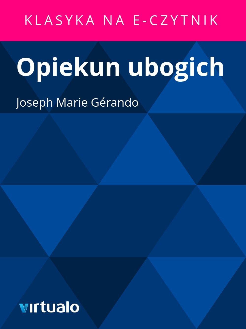 Opiekun ubogich - Ebook (Książka EPUB) do pobrania w formacie EPUB