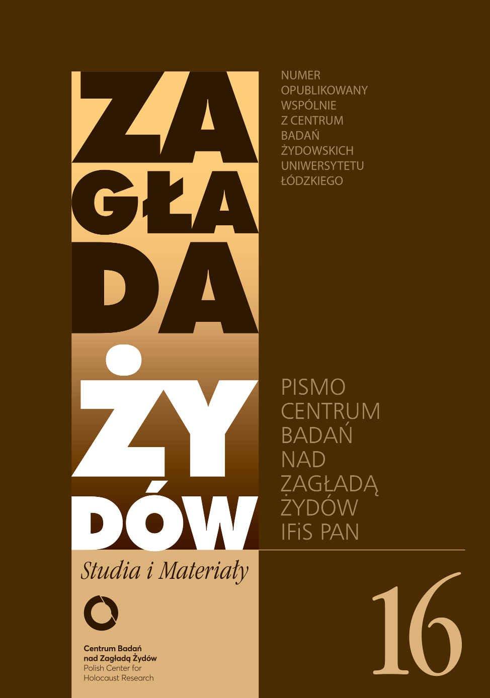 Zagłada Żydów. Studia i Materiały nr 16 R. 2020 - Ebook (Książka EPUB) do pobrania w formacie EPUB