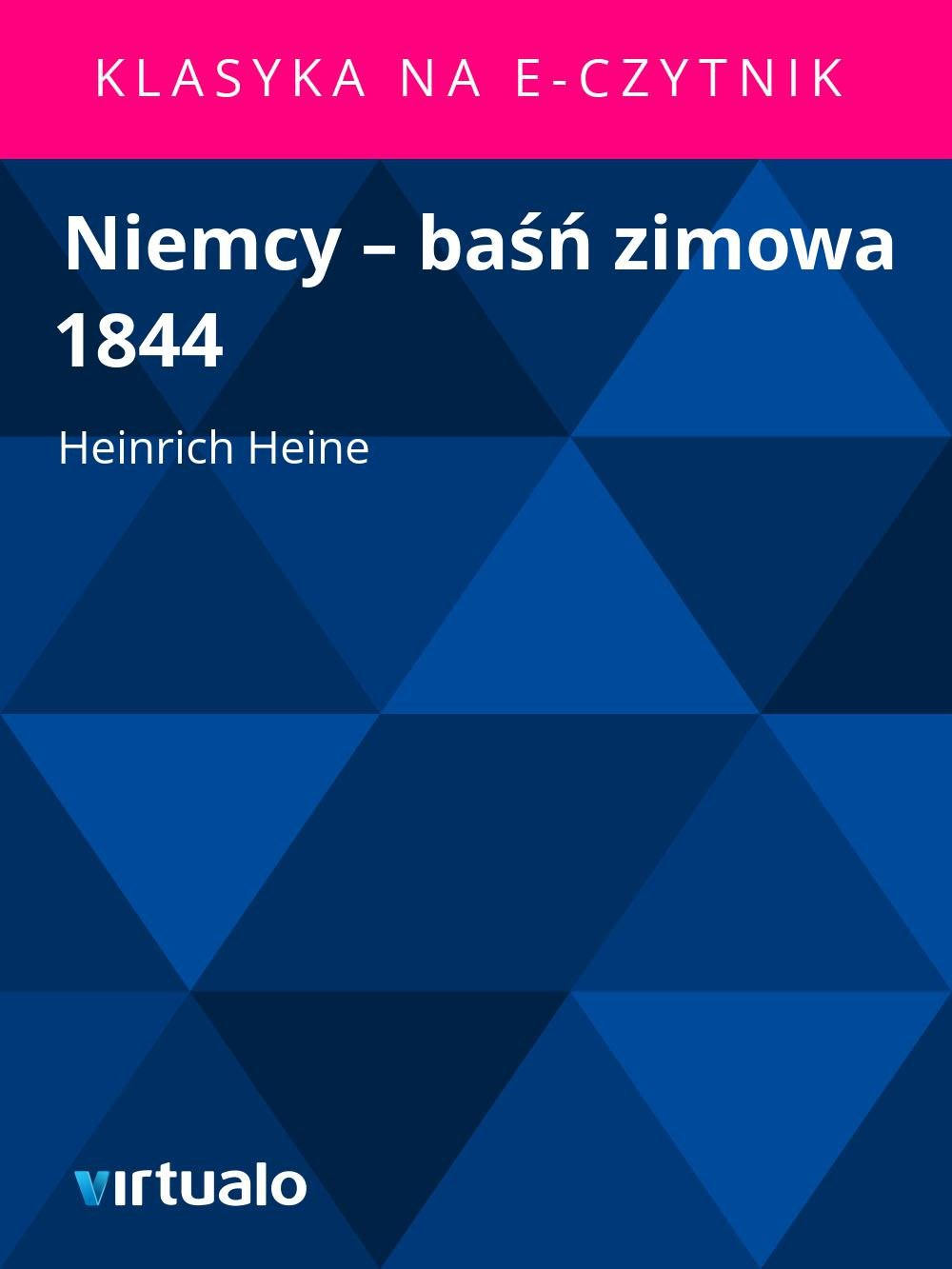 Niemcy – baśń zimowa 1844 - Ebook (Książka EPUB) do pobrania w formacie EPUB