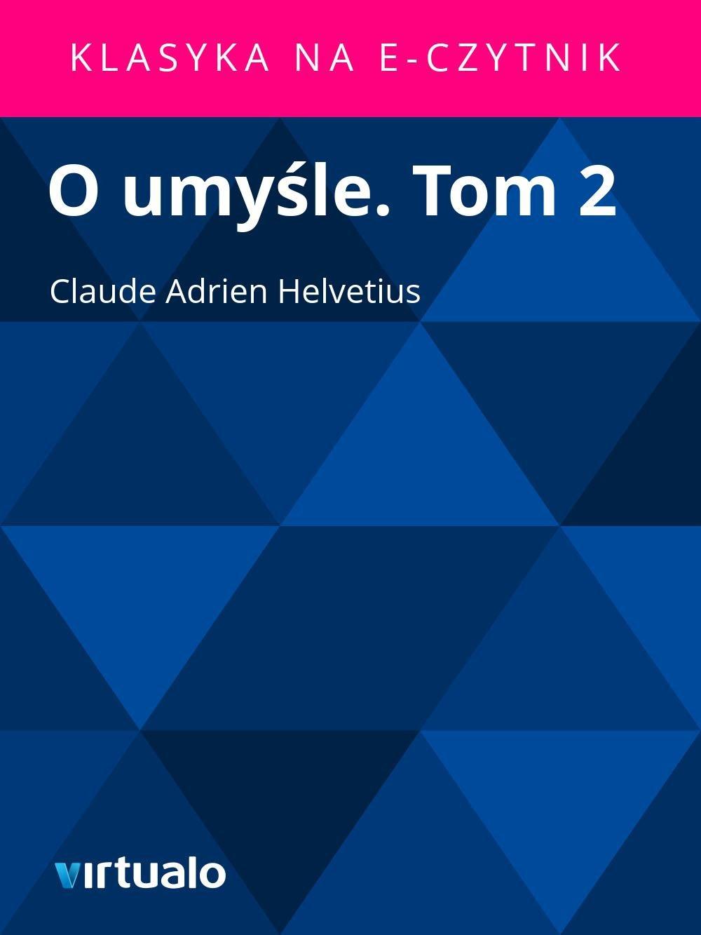 O umyśle. Tom 2 - Ebook (Książka EPUB) do pobrania w formacie EPUB