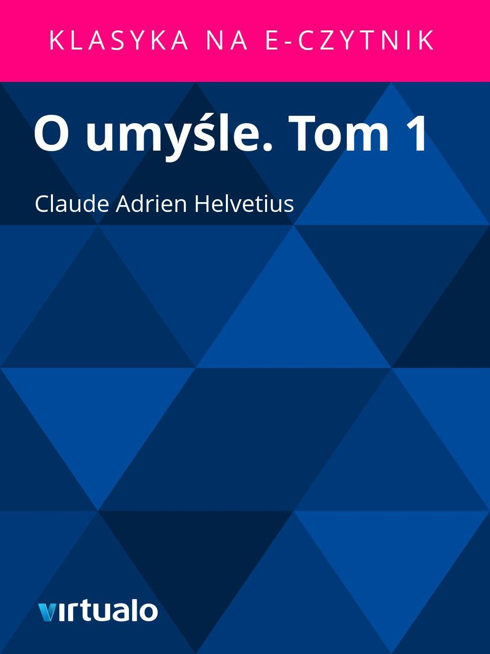 O umyśle. Tom 1 - Ebook (Książka EPUB) do pobrania w formacie EPUB