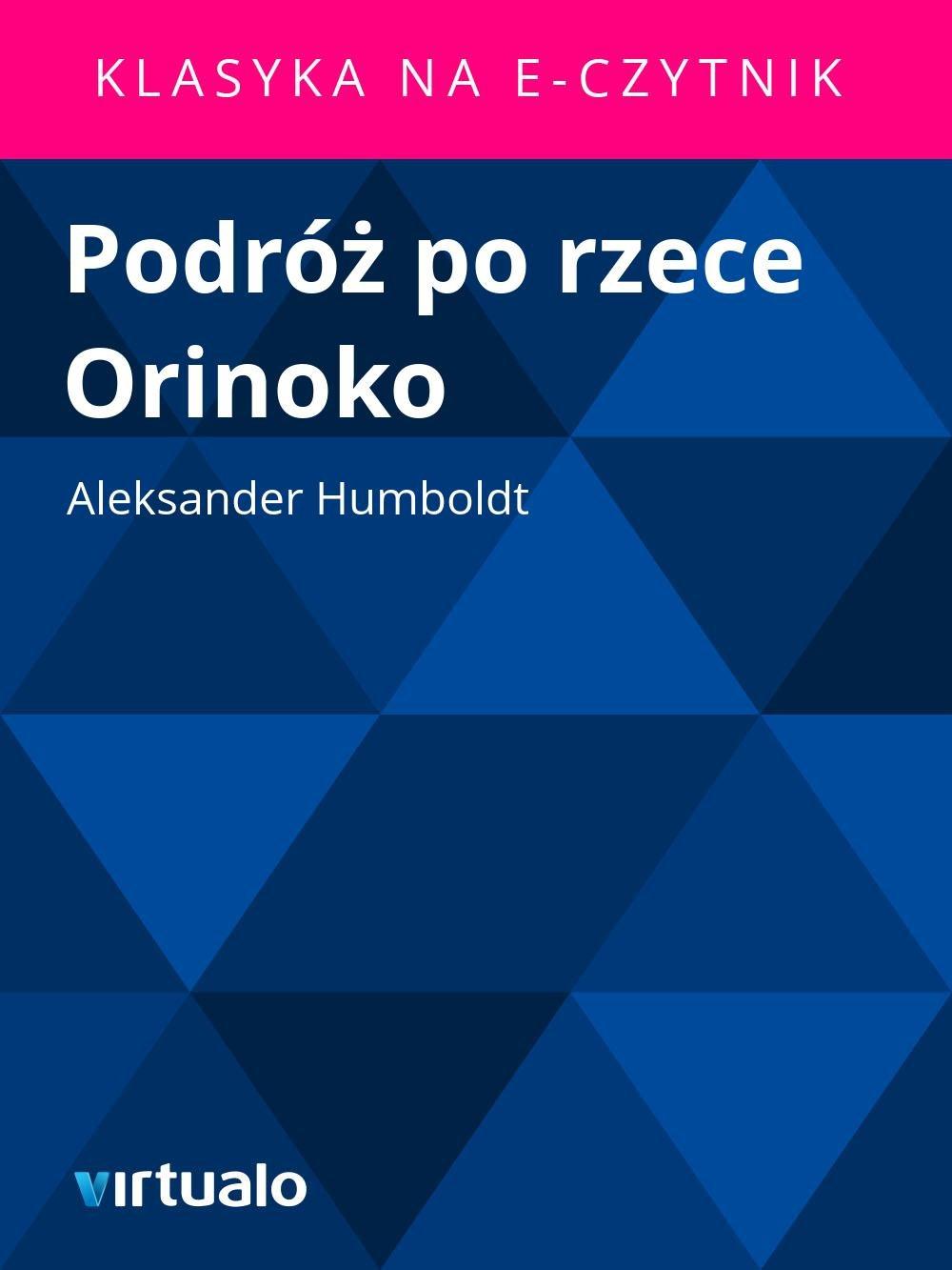 Podróż po rzece Orinoko - Ebook (Książka EPUB) do pobrania w formacie EPUB