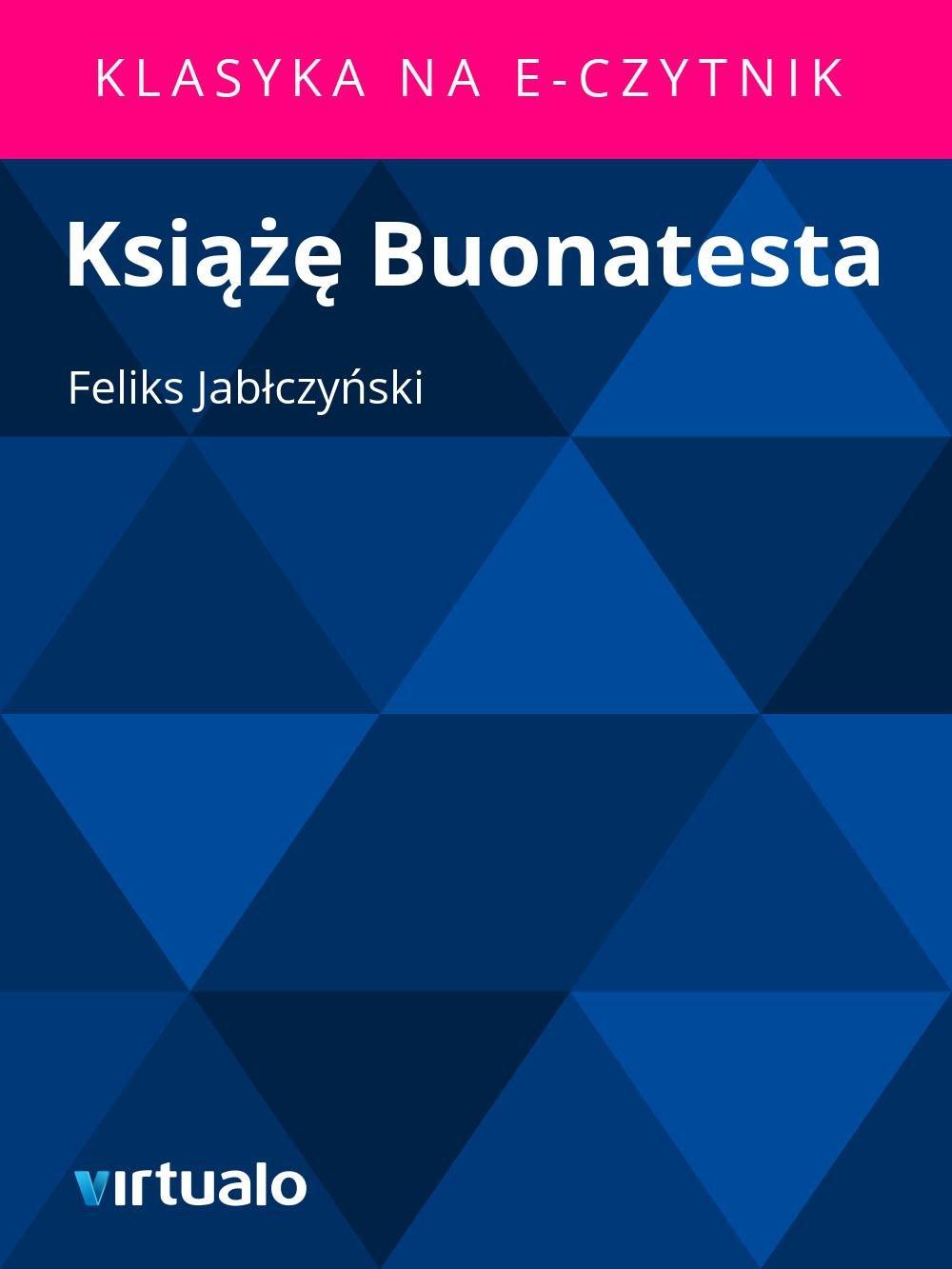 Książę Buonatesta - Ebook (Książka EPUB) do pobrania w formacie EPUB