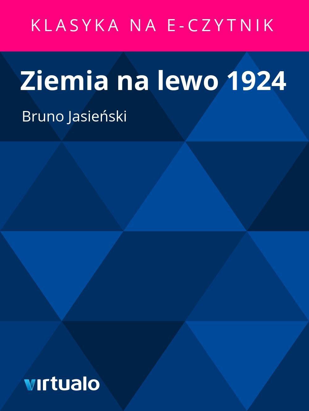 Ziemia na lewo 1924 - Ebook (Książka EPUB) do pobrania w formacie EPUB