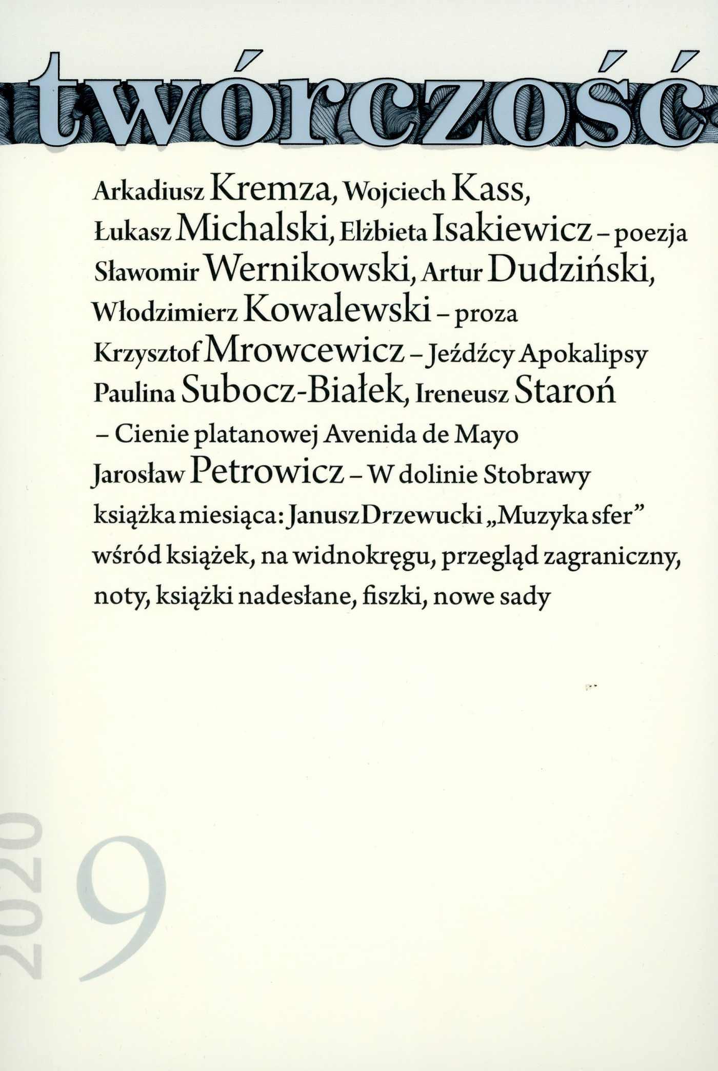 Twórczość 9/2020 - Ebook (Książka EPUB) do pobrania w formacie EPUB