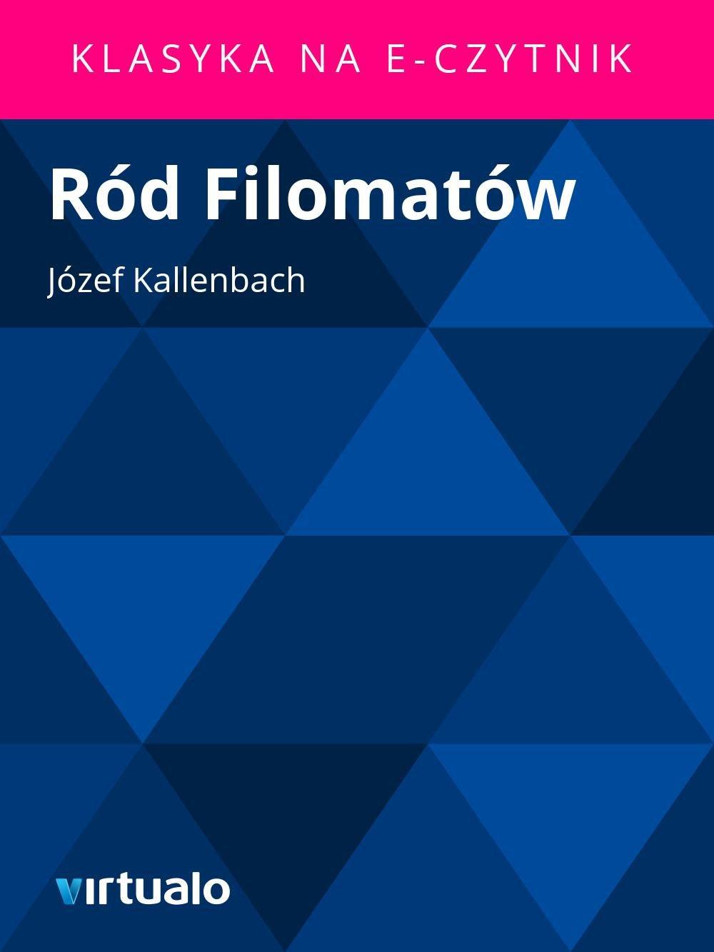 Ród Filomatów - Ebook (Książka EPUB) do pobrania w formacie EPUB