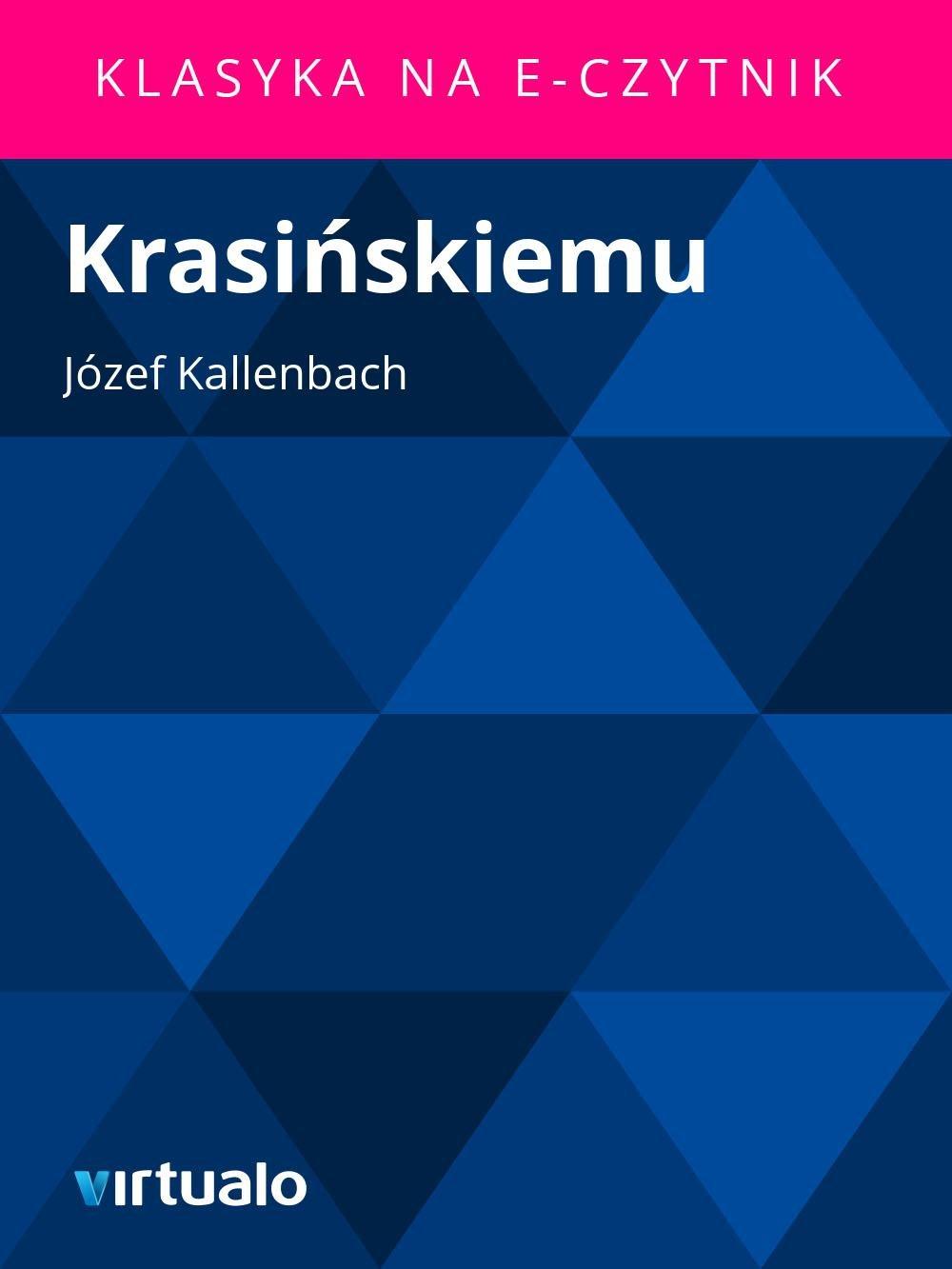 Krasińskiemu - Ebook (Książka EPUB) do pobrania w formacie EPUB