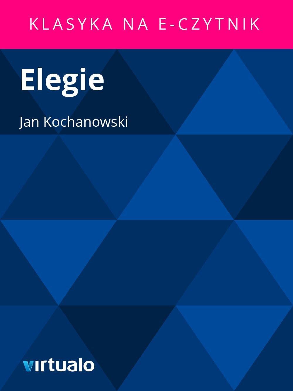 Elegie - Ebook (Książka EPUB) do pobrania w formacie EPUB