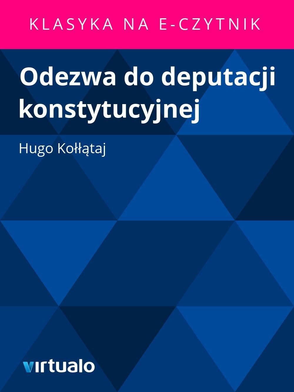 Odezwa do deputacji konstytucyjnej - Ebook (Książka EPUB) do pobrania w formacie EPUB