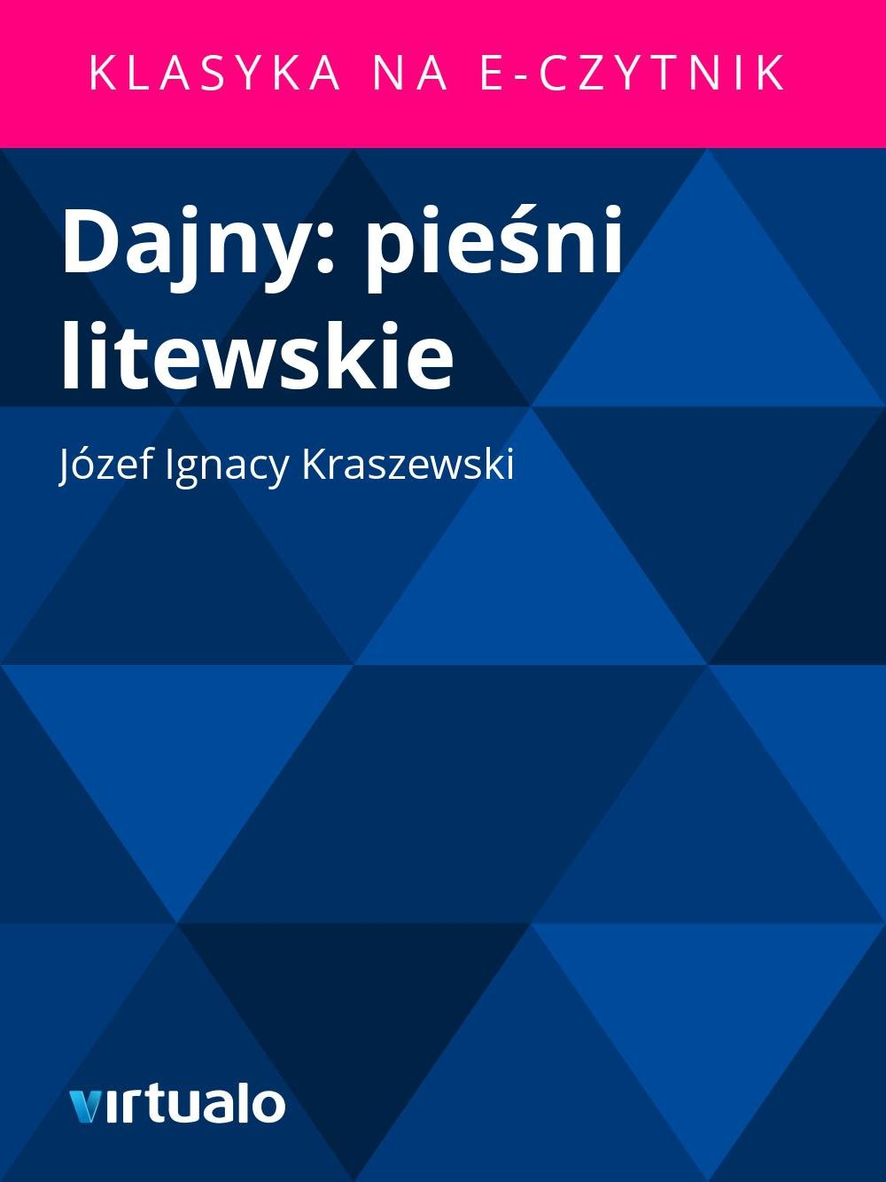 Dajny: pieśni litewskie - Ebook (Książka EPUB) do pobrania w formacie EPUB