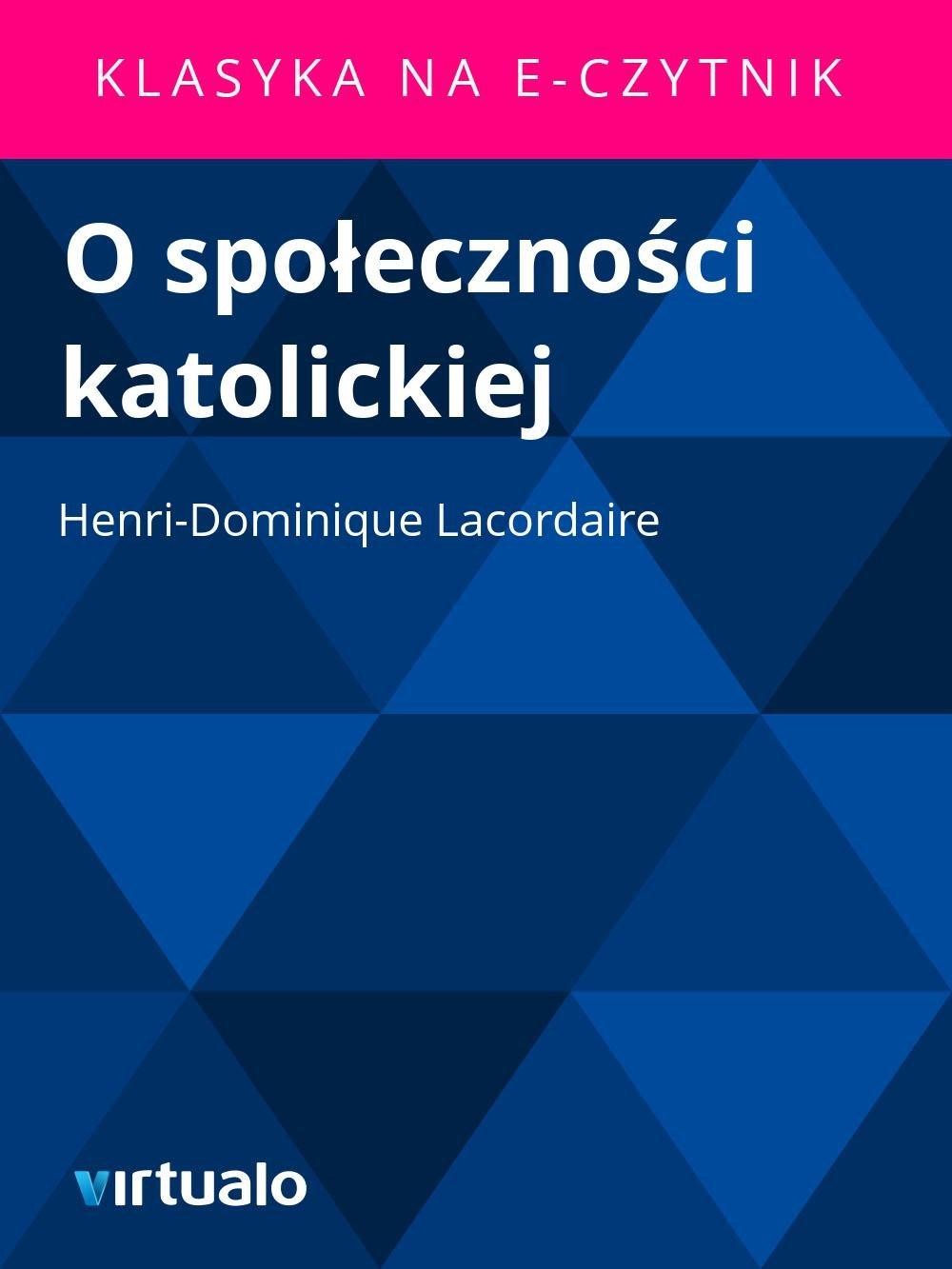 O społeczności katolickiej - Ebook (Książka EPUB) do pobrania w formacie EPUB