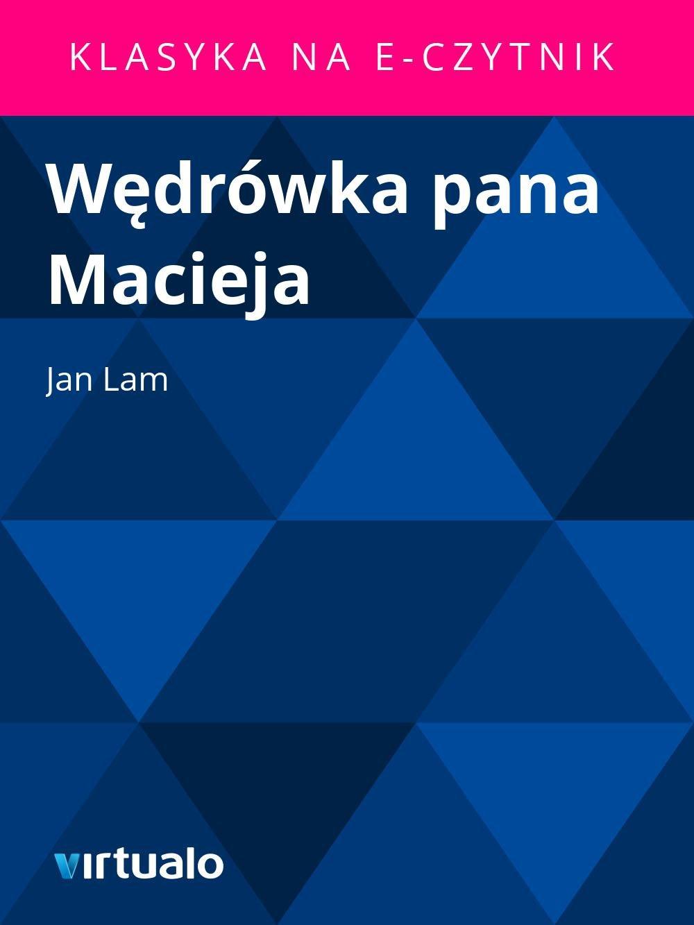 Wędrówka pana Macieja - Ebook (Książka EPUB) do pobrania w formacie EPUB