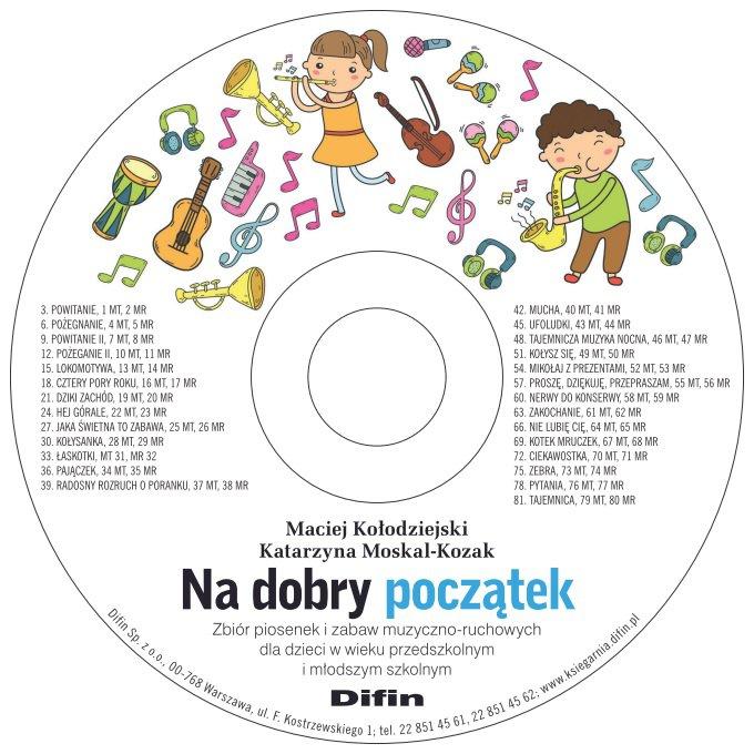 Na dobry początek. Zbiór piosenek i zabaw muzyczno-ruchowych dla dzieci w wieku przedszkolnym i młodszym szkolnym. Elektroniczna wersja płyty CD