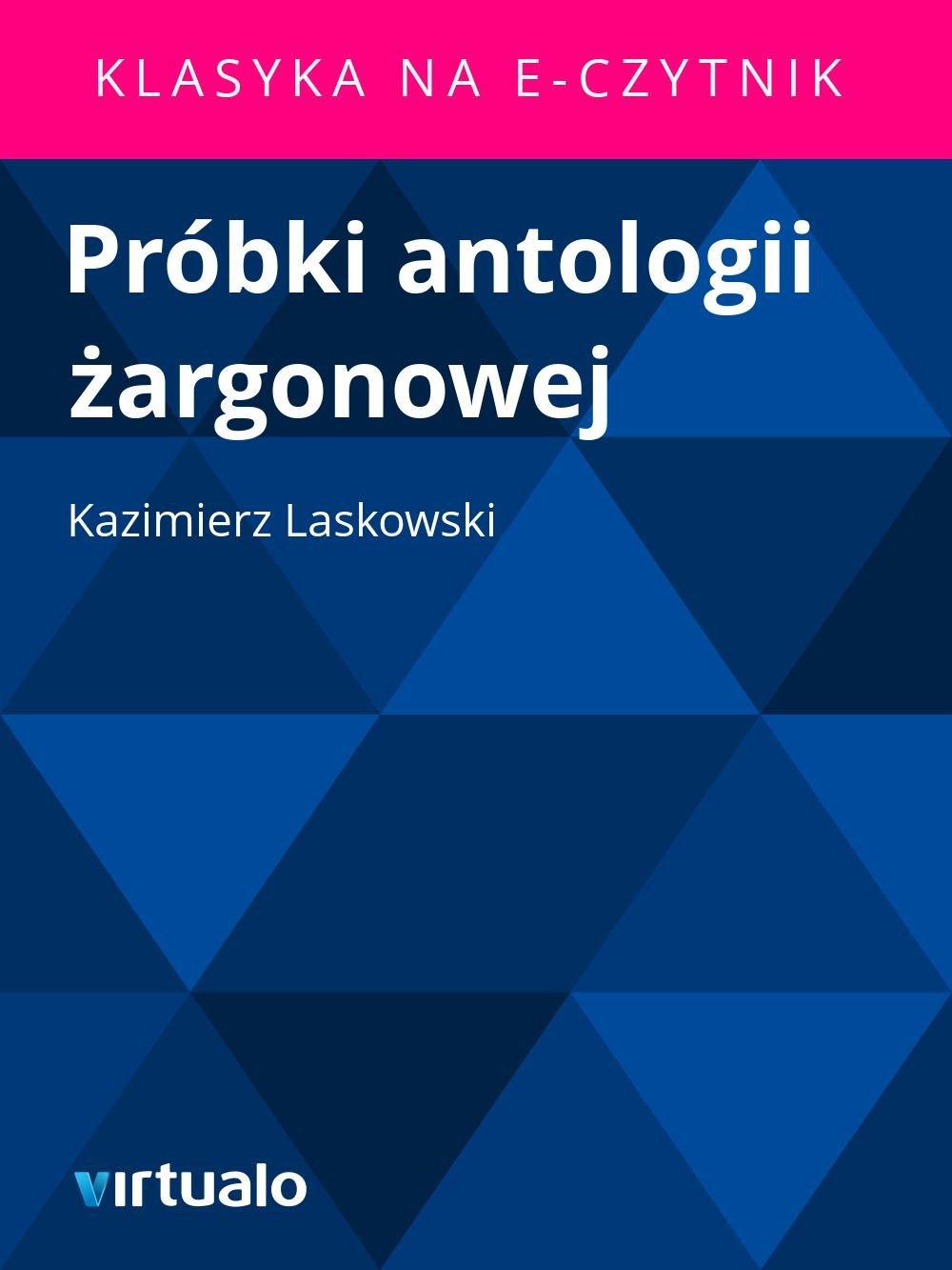 Próbki antologii żargonowej - Ebook (Książka EPUB) do pobrania w formacie EPUB