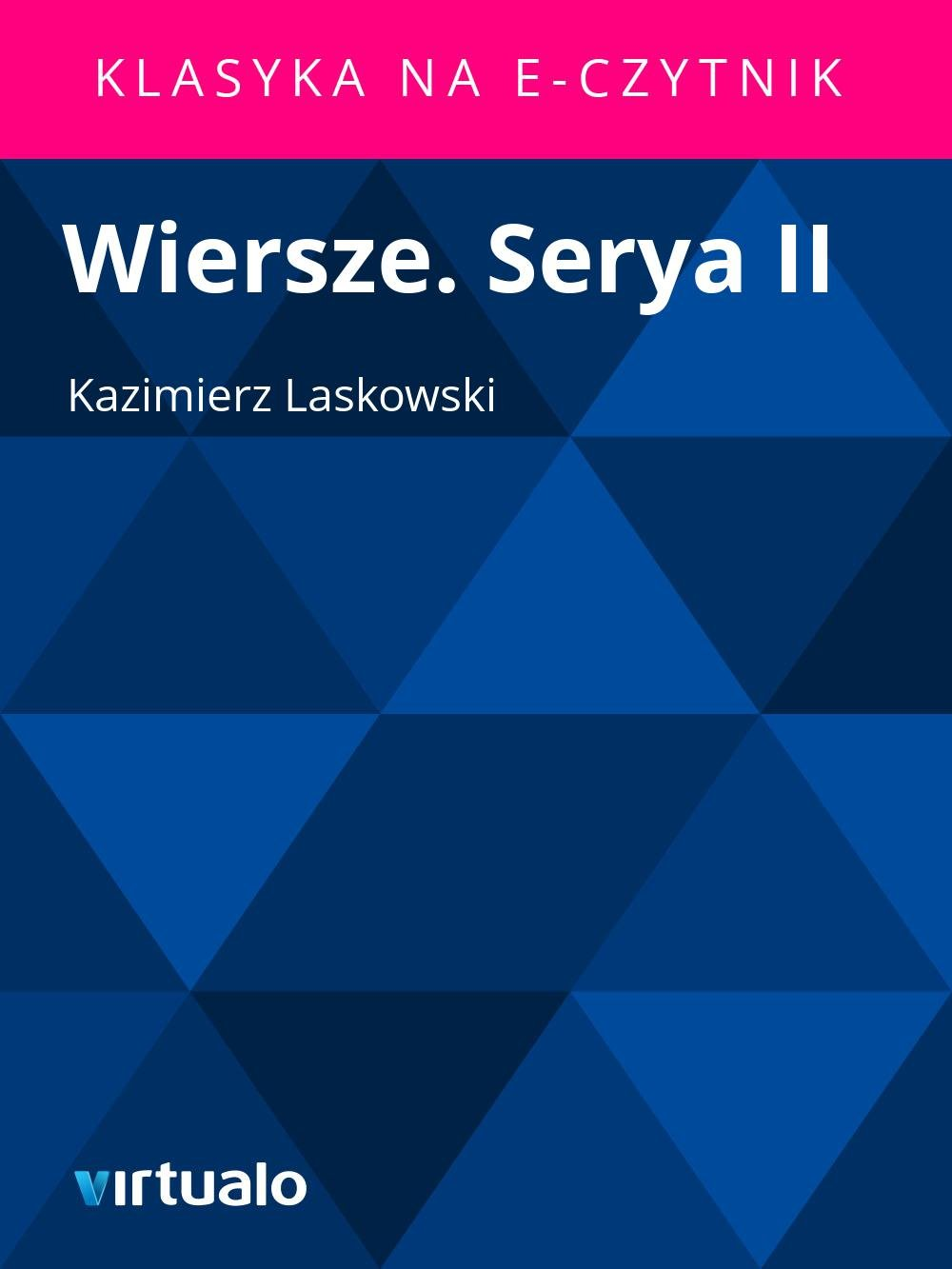 Wiersze. Serya II - Ebook (Książka EPUB) do pobrania w formacie EPUB