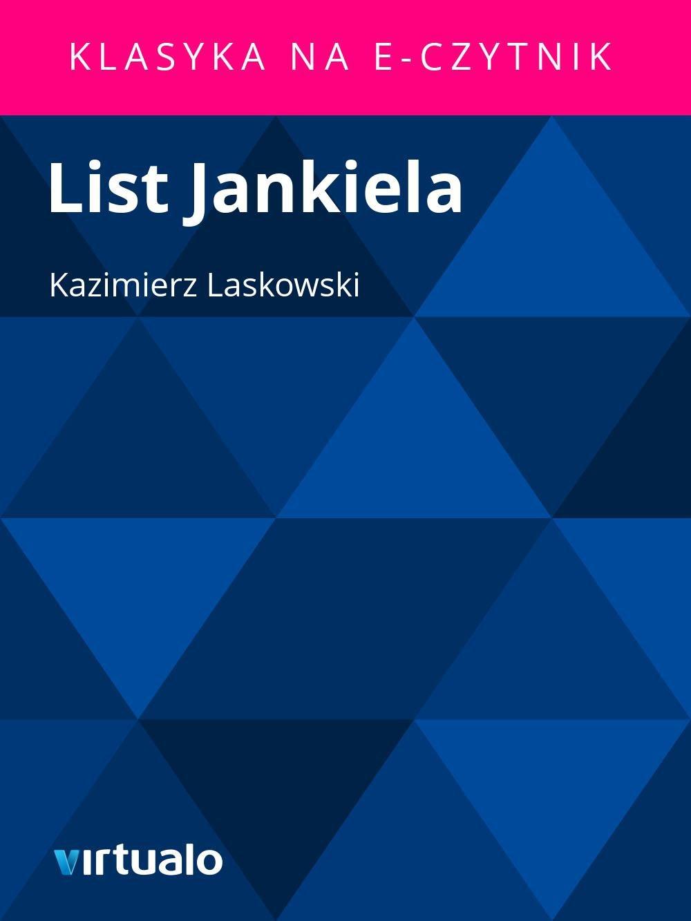 List Jankiela - Ebook (Książka EPUB) do pobrania w formacie EPUB