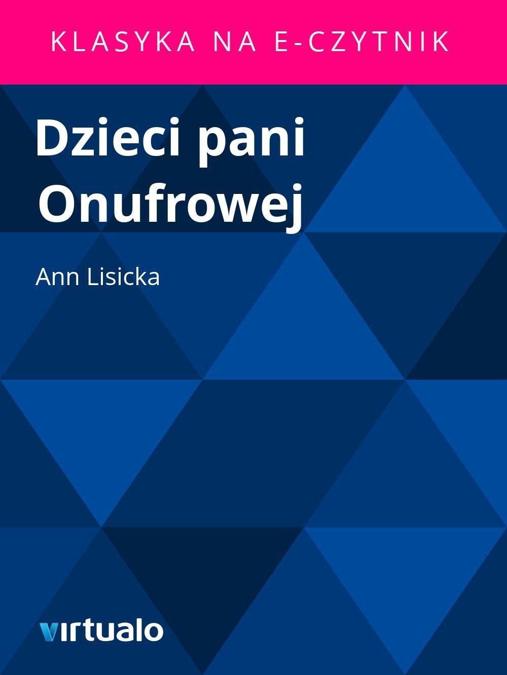 Dzieci pani Onufrowej - Ebook (Książka EPUB) do pobrania w formacie EPUB