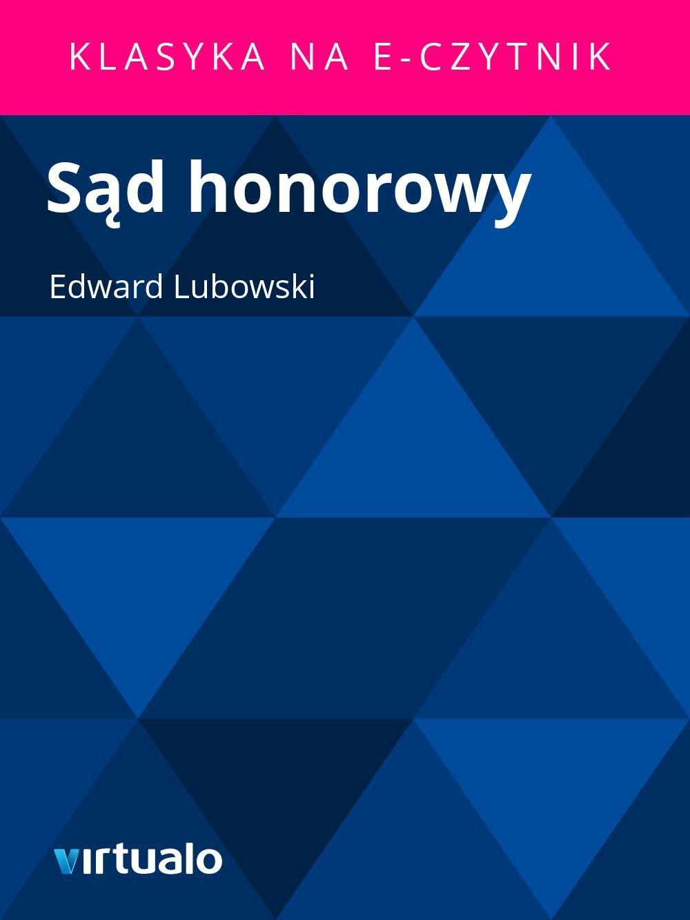 Sąd honorowy - Ebook (Książka EPUB) do pobrania w formacie EPUB