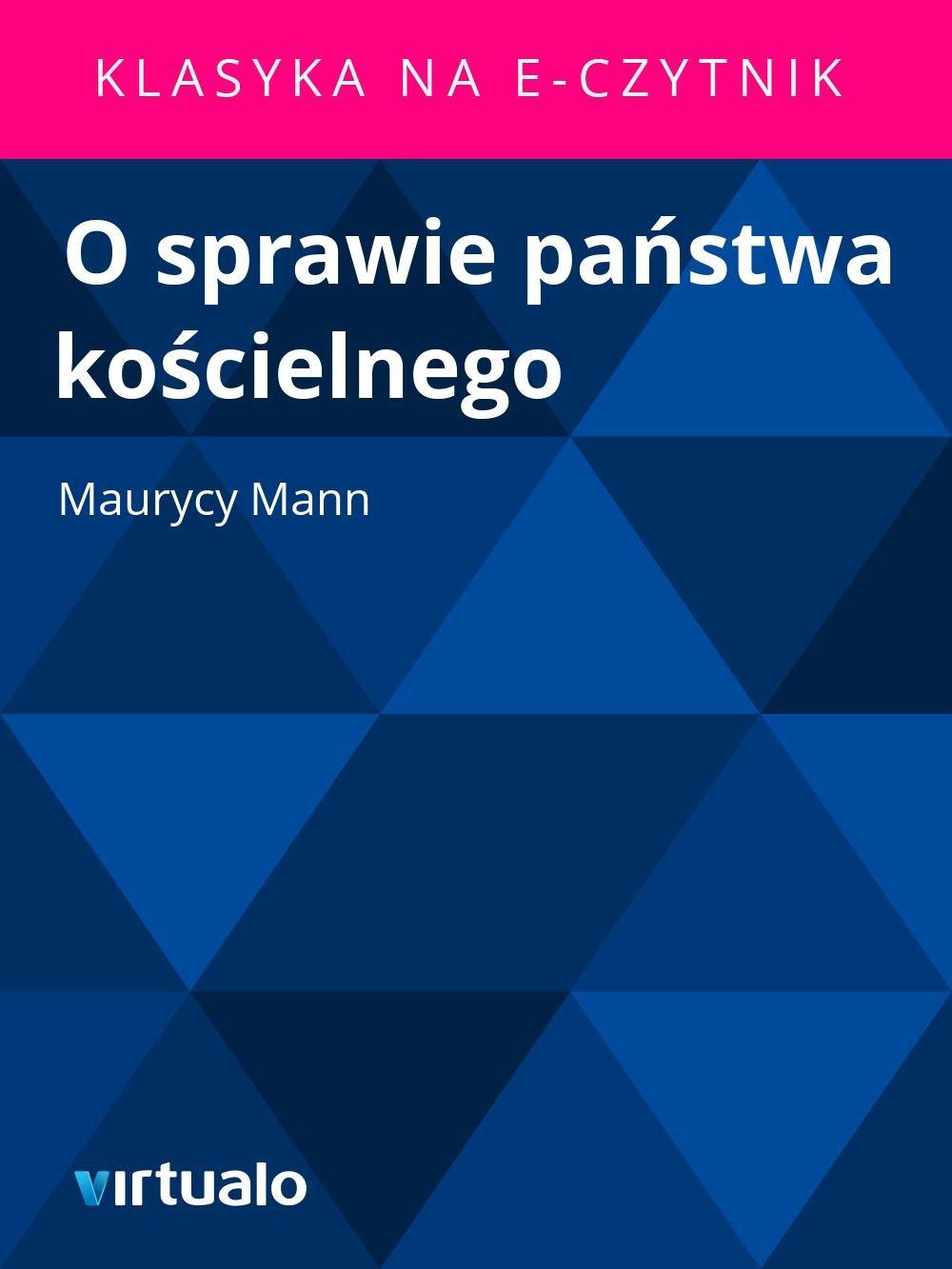 O sprawie państwa kościelnego - Ebook (Książka EPUB) do pobrania w formacie EPUB