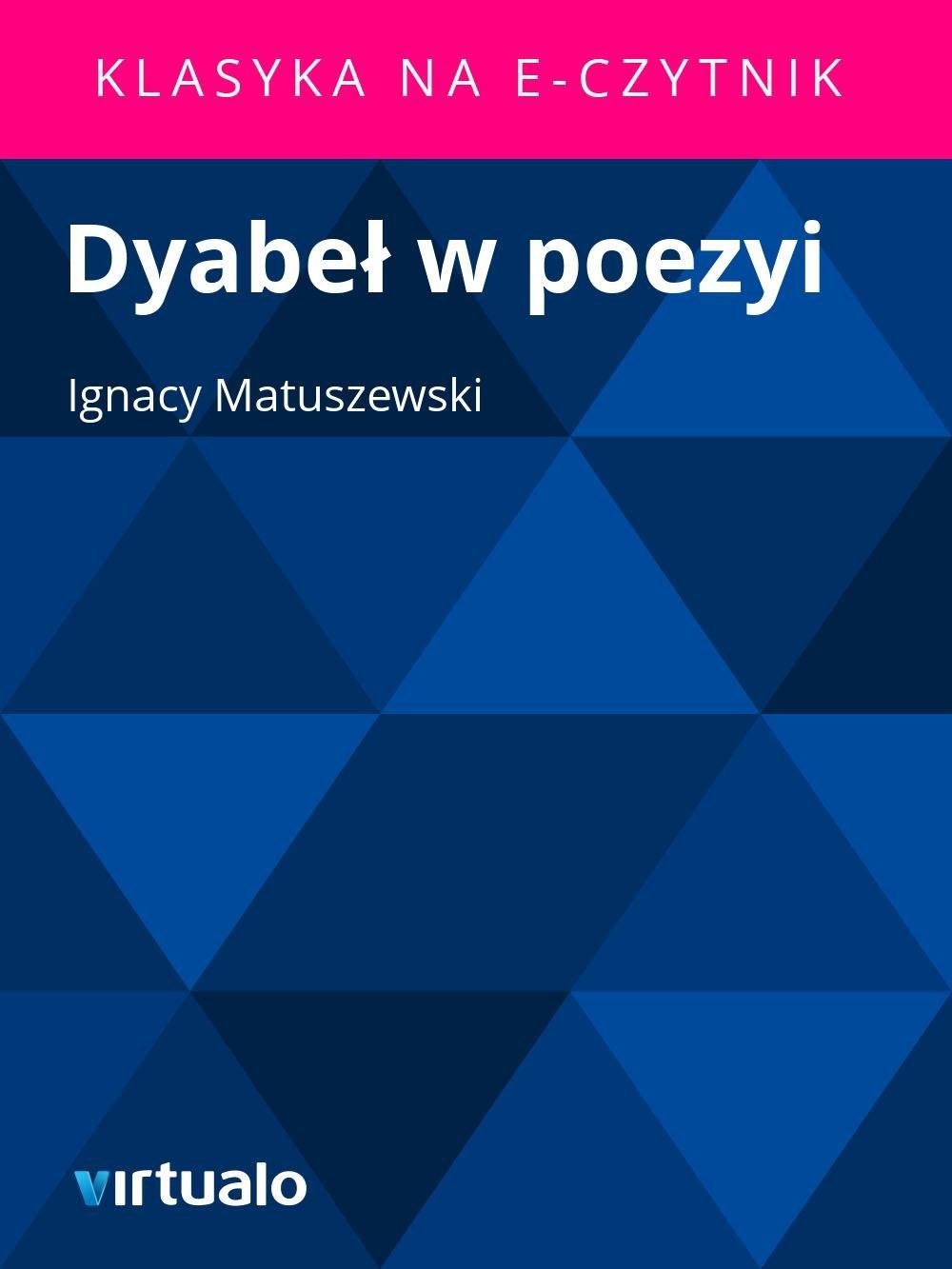 Dyabeł w poezyi - Ebook (Książka EPUB) do pobrania w formacie EPUB