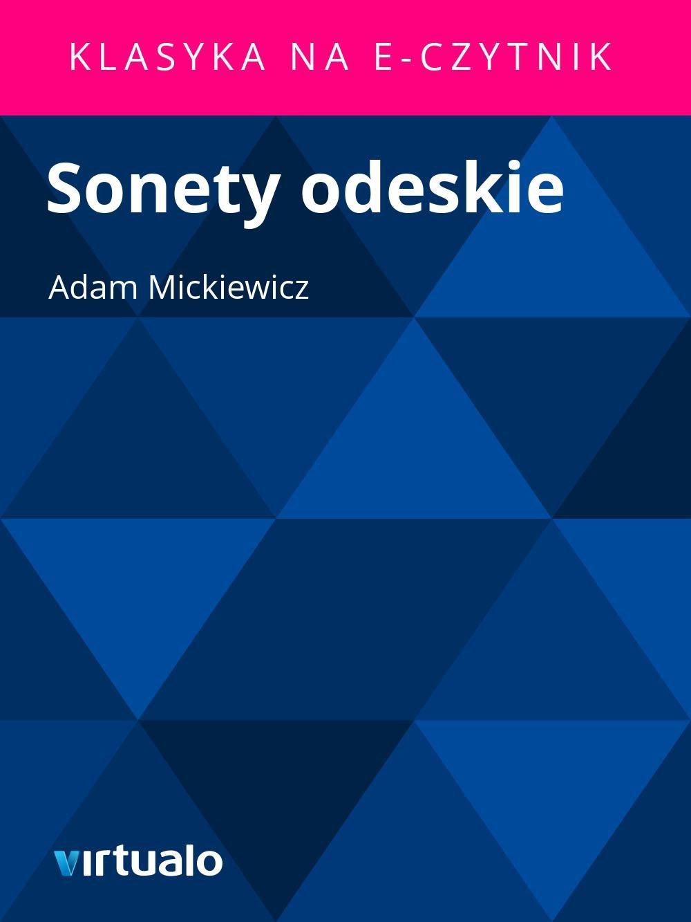 Sonety odeskie - Ebook (Książka EPUB) do pobrania w formacie EPUB