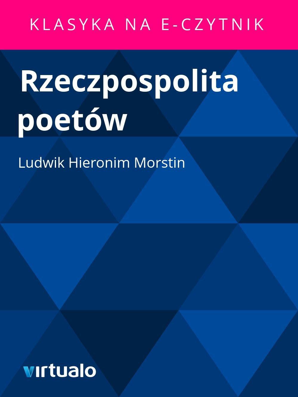 Rzeczpospolita poetów - Ebook (Książka EPUB) do pobrania w formacie EPUB