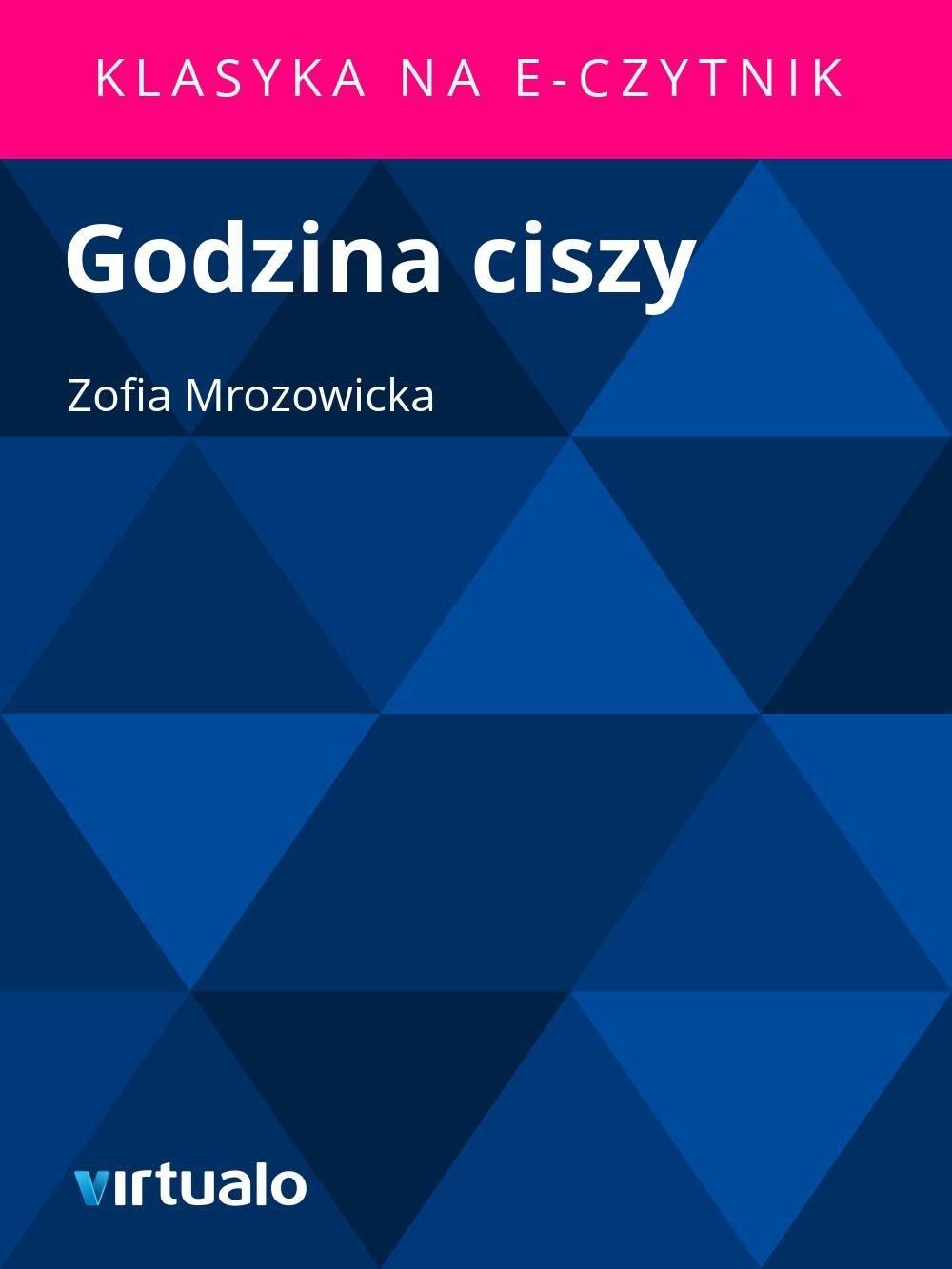 Godzina ciszy - Ebook (Książka EPUB) do pobrania w formacie EPUB