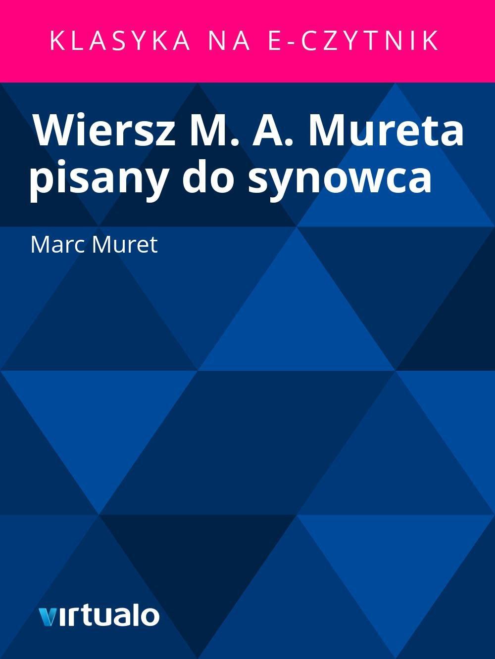 Wiersz M. A. Mureta pisany do synowca - Ebook (Książka EPUB) do pobrania w formacie EPUB