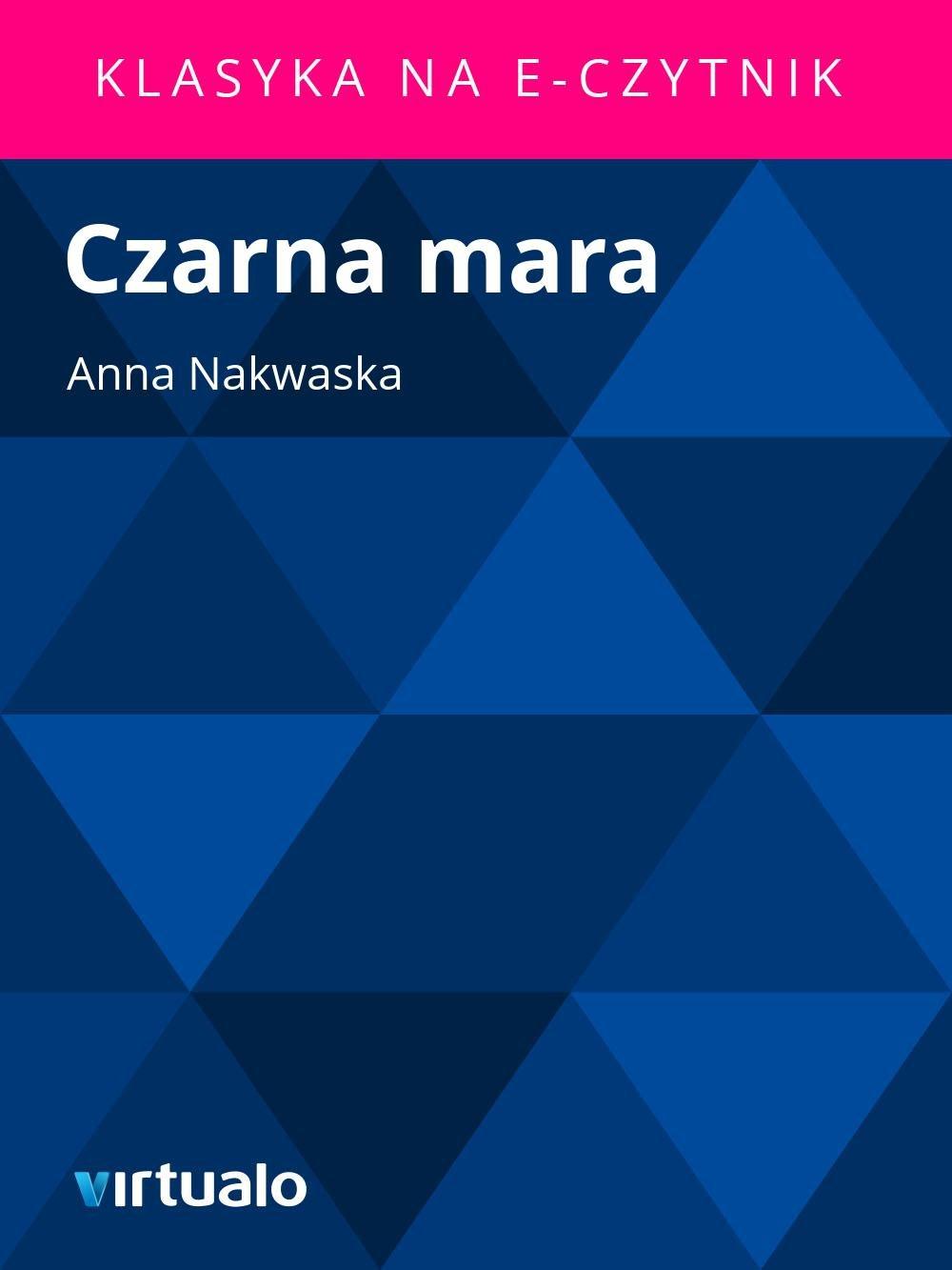 Czarna mara - Ebook (Książka EPUB) do pobrania w formacie EPUB