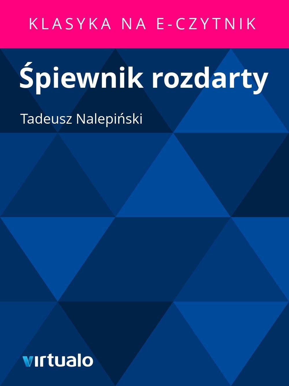 Śpiewnik rozdarty - Ebook (Książka EPUB) do pobrania w formacie EPUB