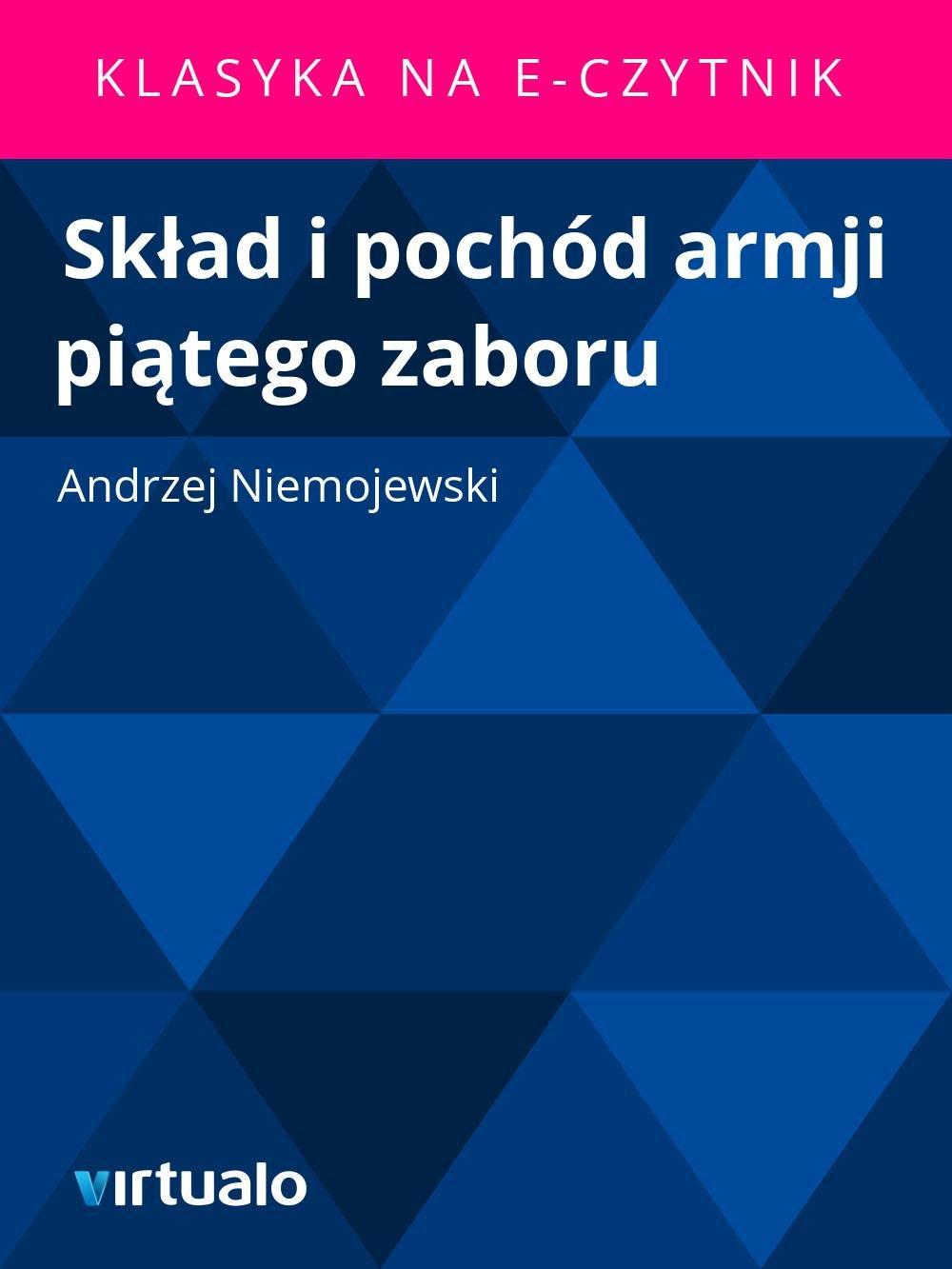 Skład i pochód armji piątego zaboru - Ebook (Książka EPUB) do pobrania w formacie EPUB