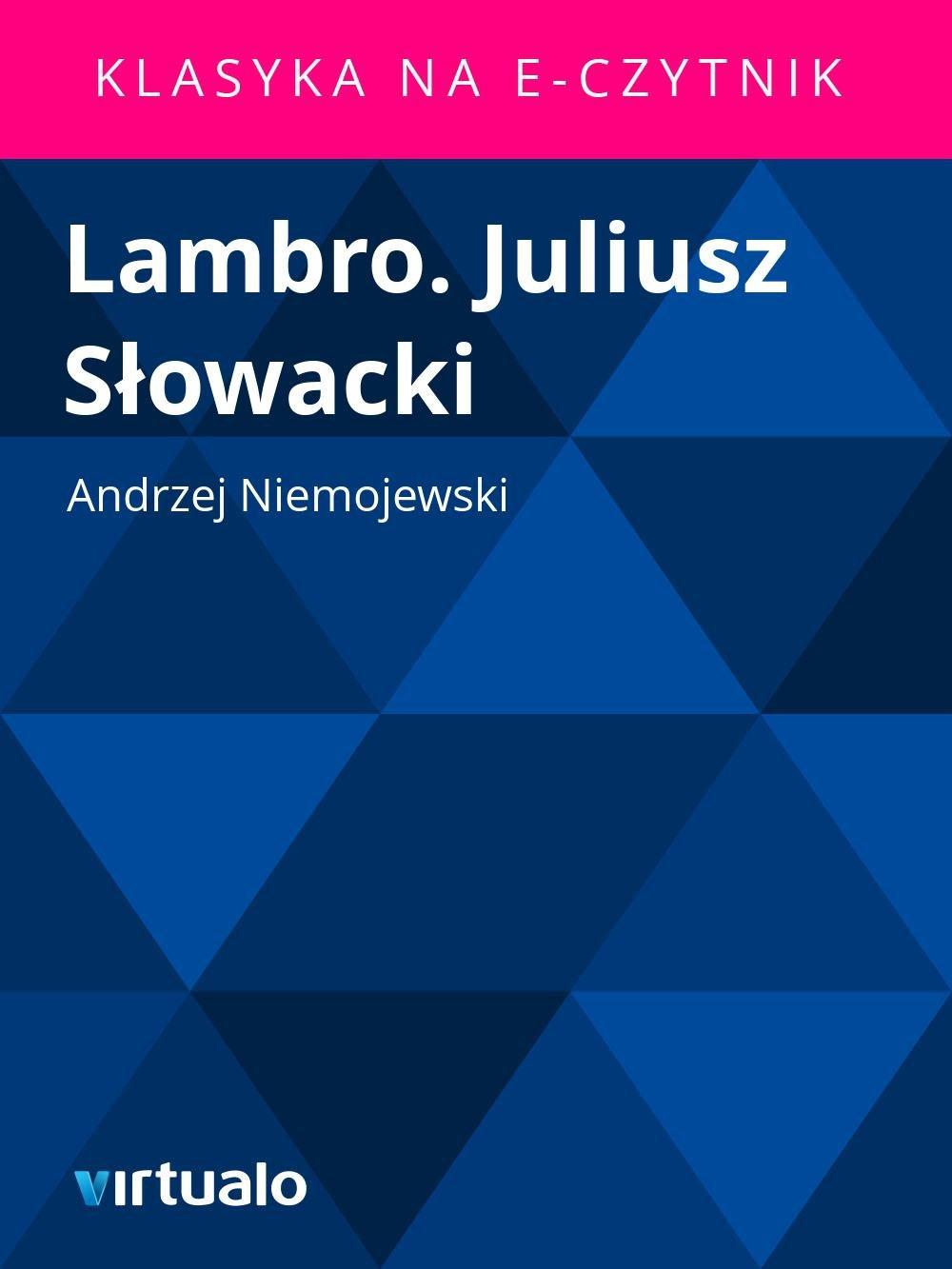 Lambro. Juliusz Słowacki - Ebook (Książka EPUB) do pobrania w formacie EPUB