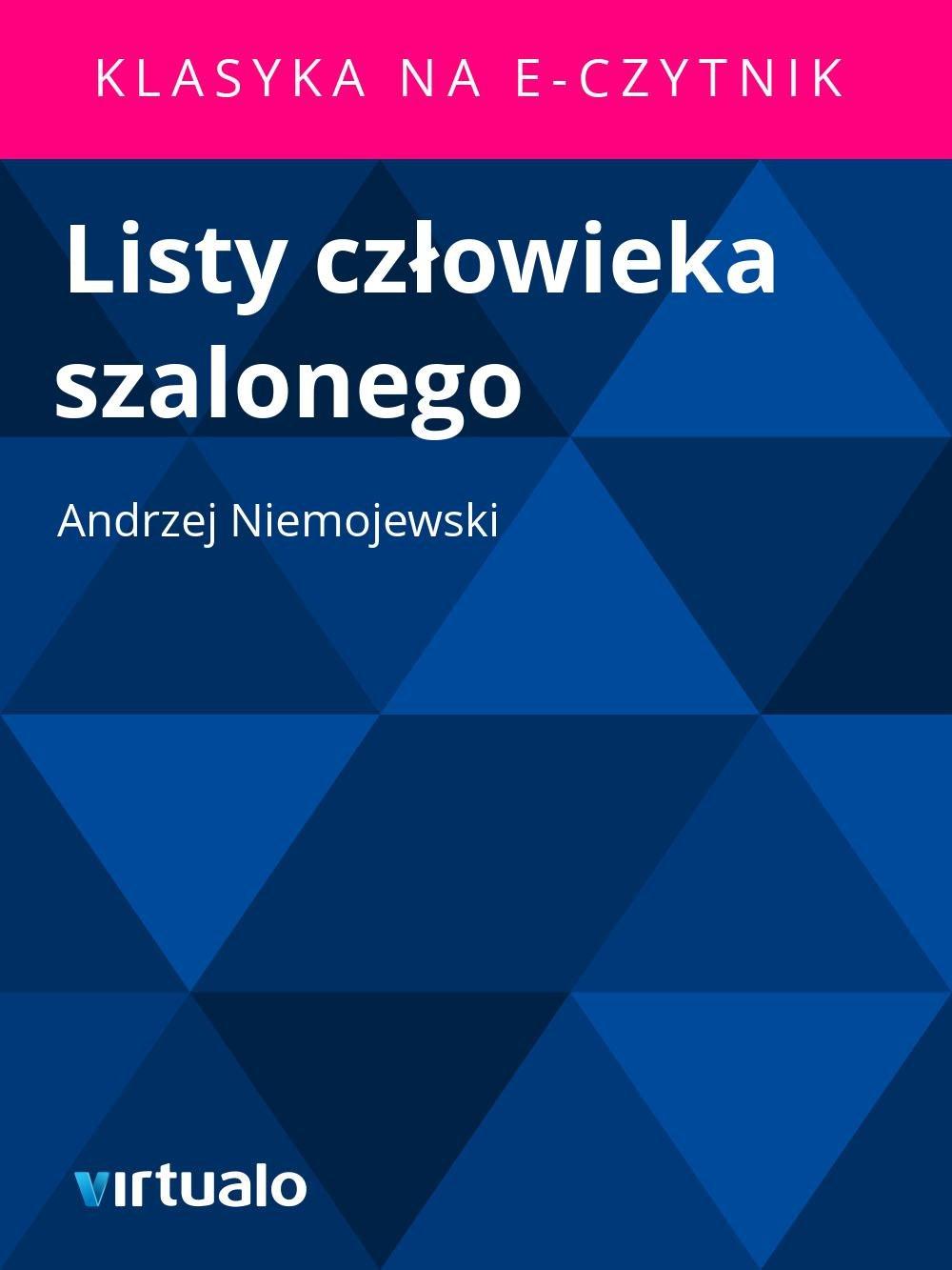 Listy człowieka szalonego - Ebook (Książka EPUB) do pobrania w formacie EPUB