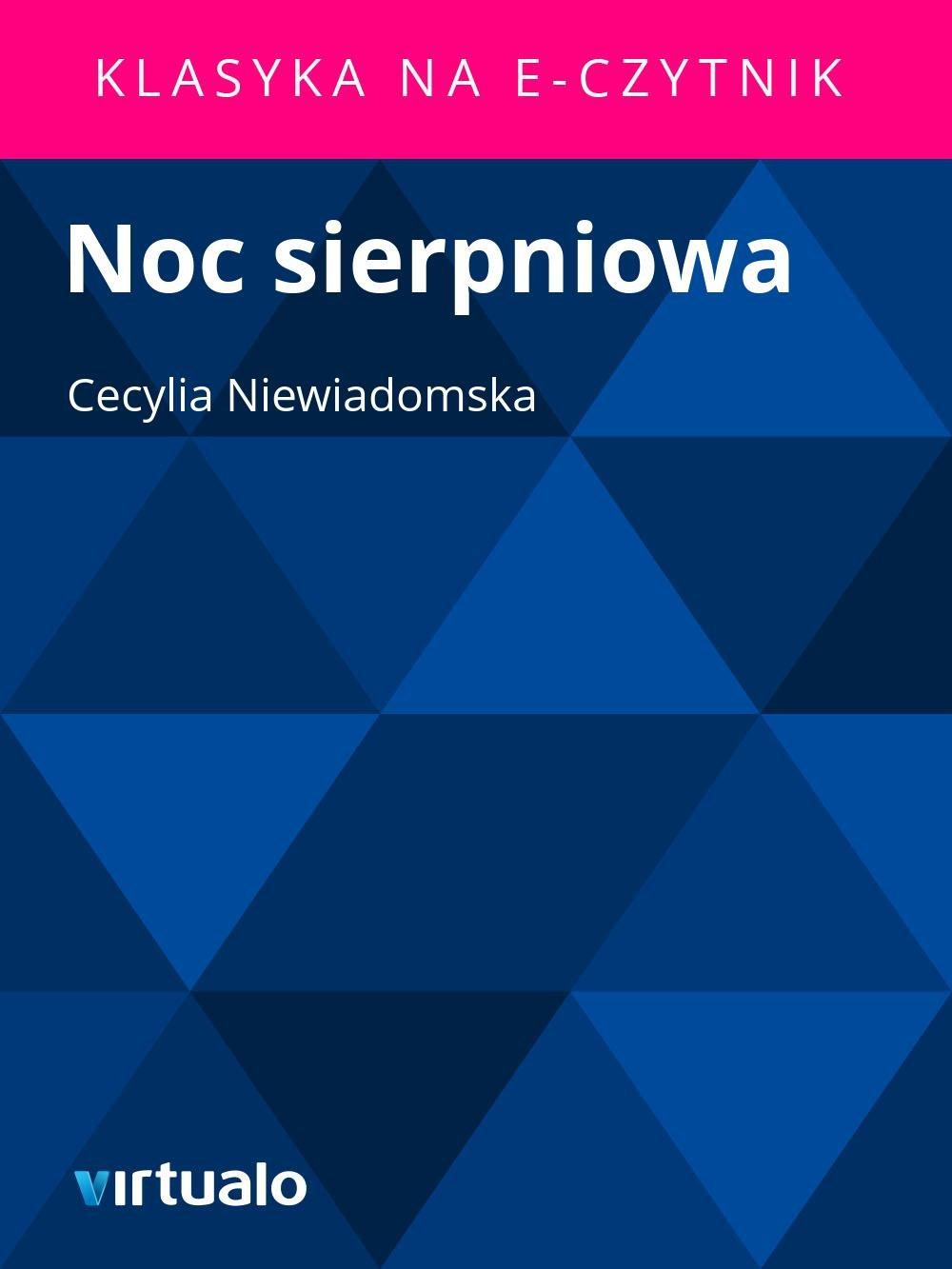 Noc sierpniowa - Ebook (Książka EPUB) do pobrania w formacie EPUB